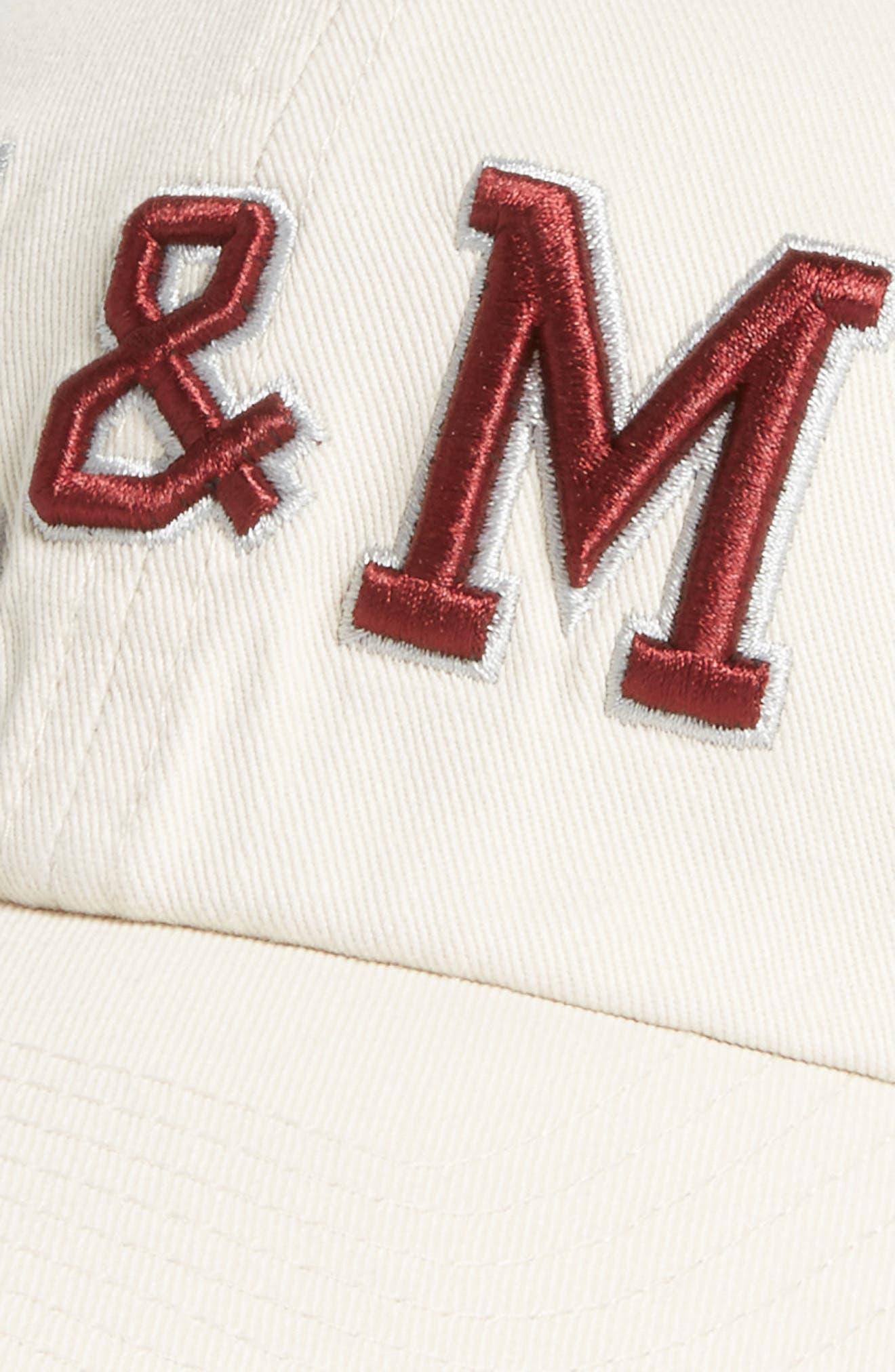 Texas A&M Clean Up Baseball Cap,                             Alternate thumbnail 3, color,                             Natural
