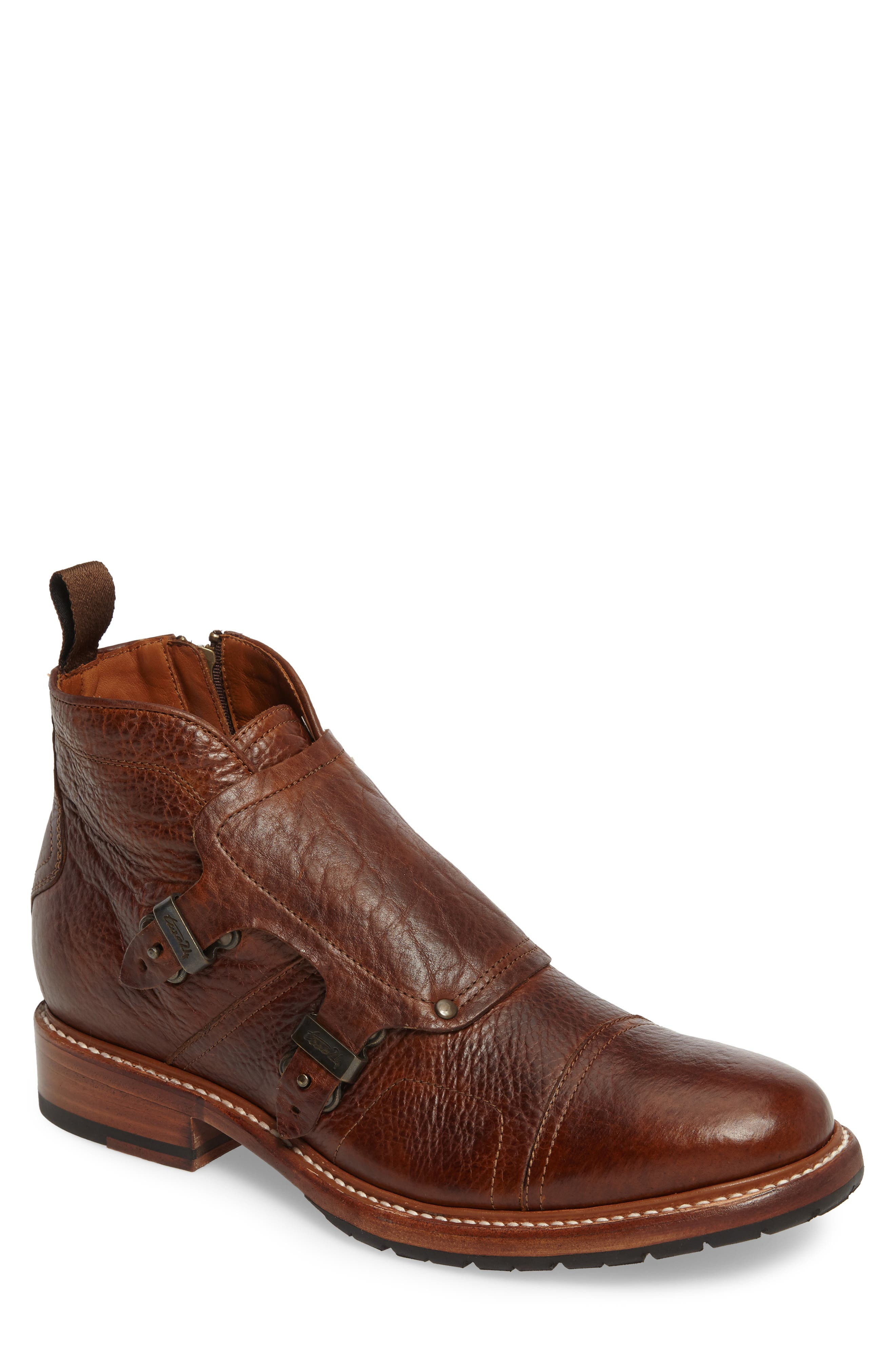 Montclair Zip Boot,                         Main,                         color, Brown Leather
