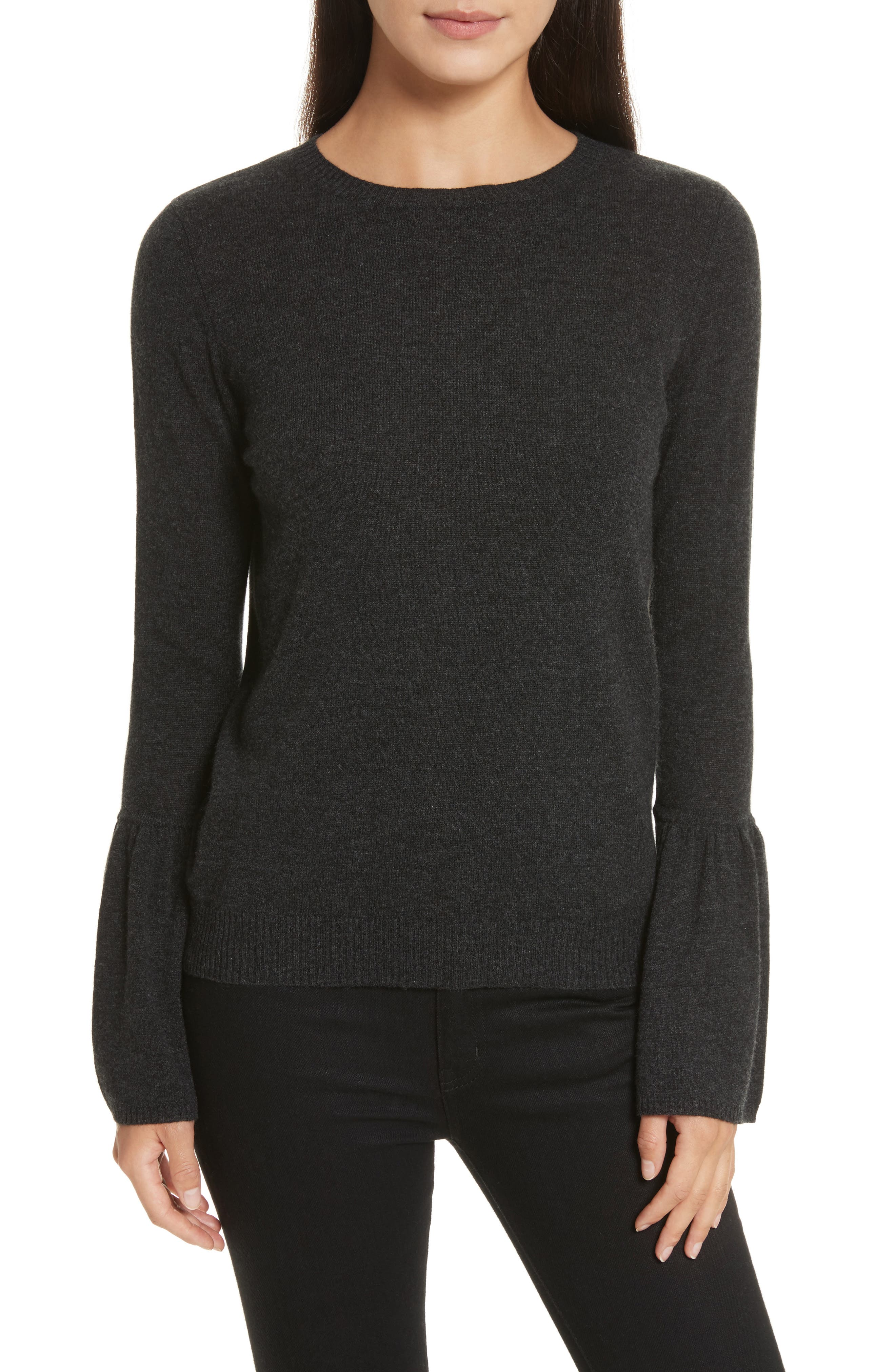 Cashmere Bell Sleeve Sweater,                         Main,                         color, Lead