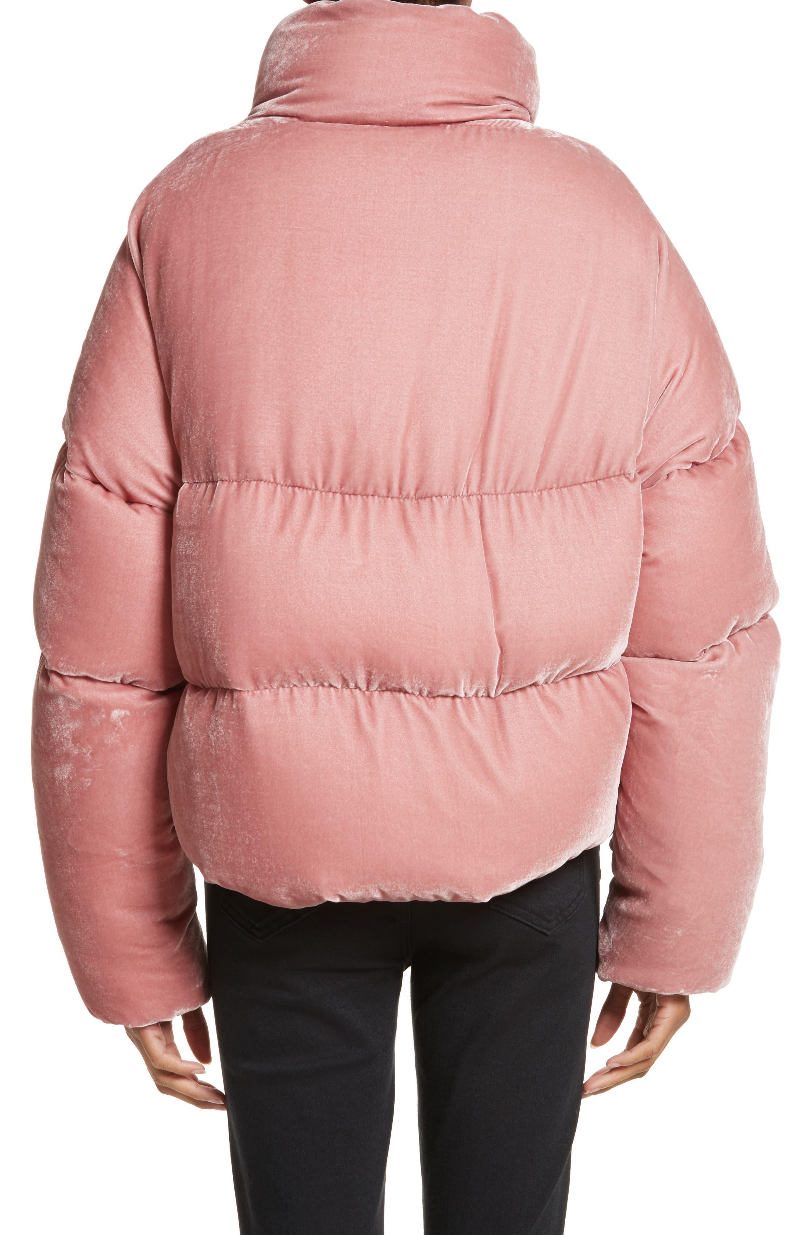 Alternate Image 2  - Moncler Cercis Velvet Quilted Down Puffer Coat