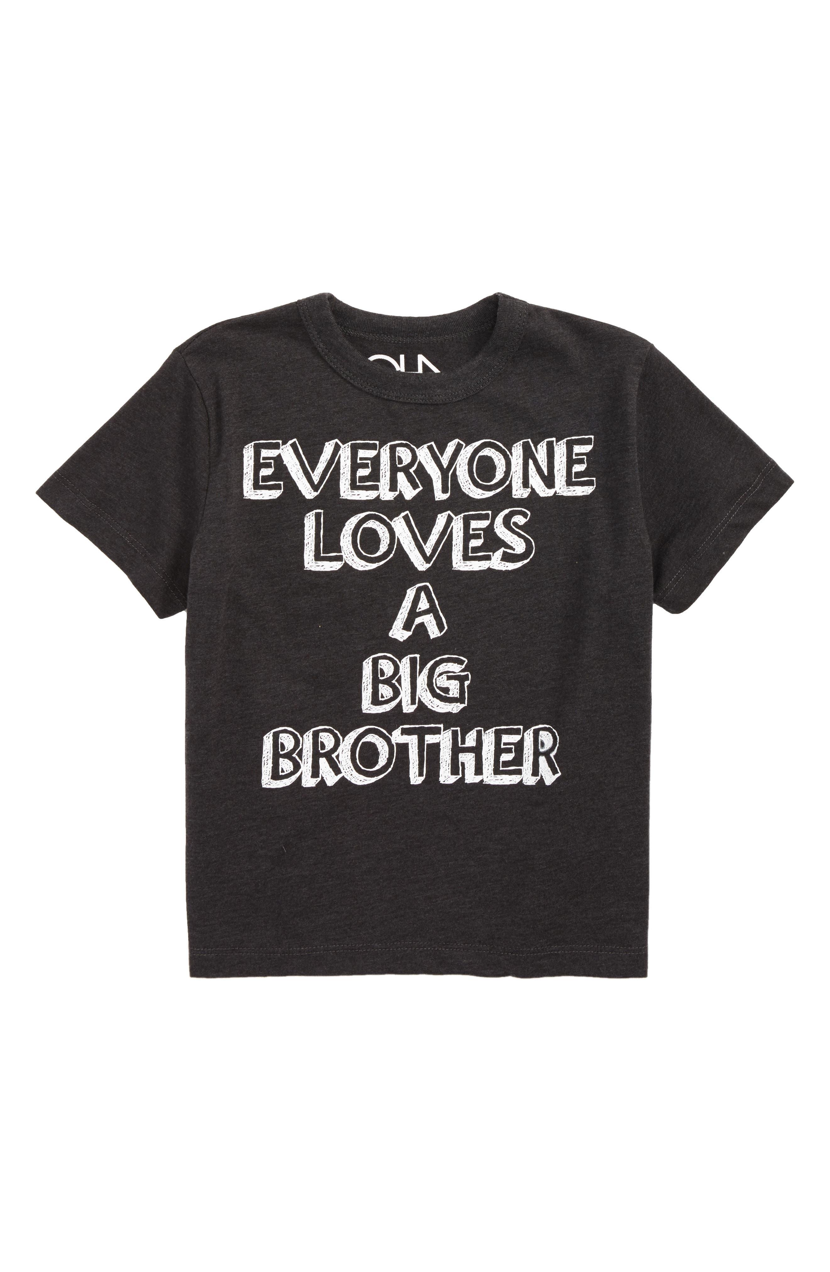 Everyone Loves a Big Brother Graphic T-Shirt,                             Main thumbnail 1, color,                             Vintage Black