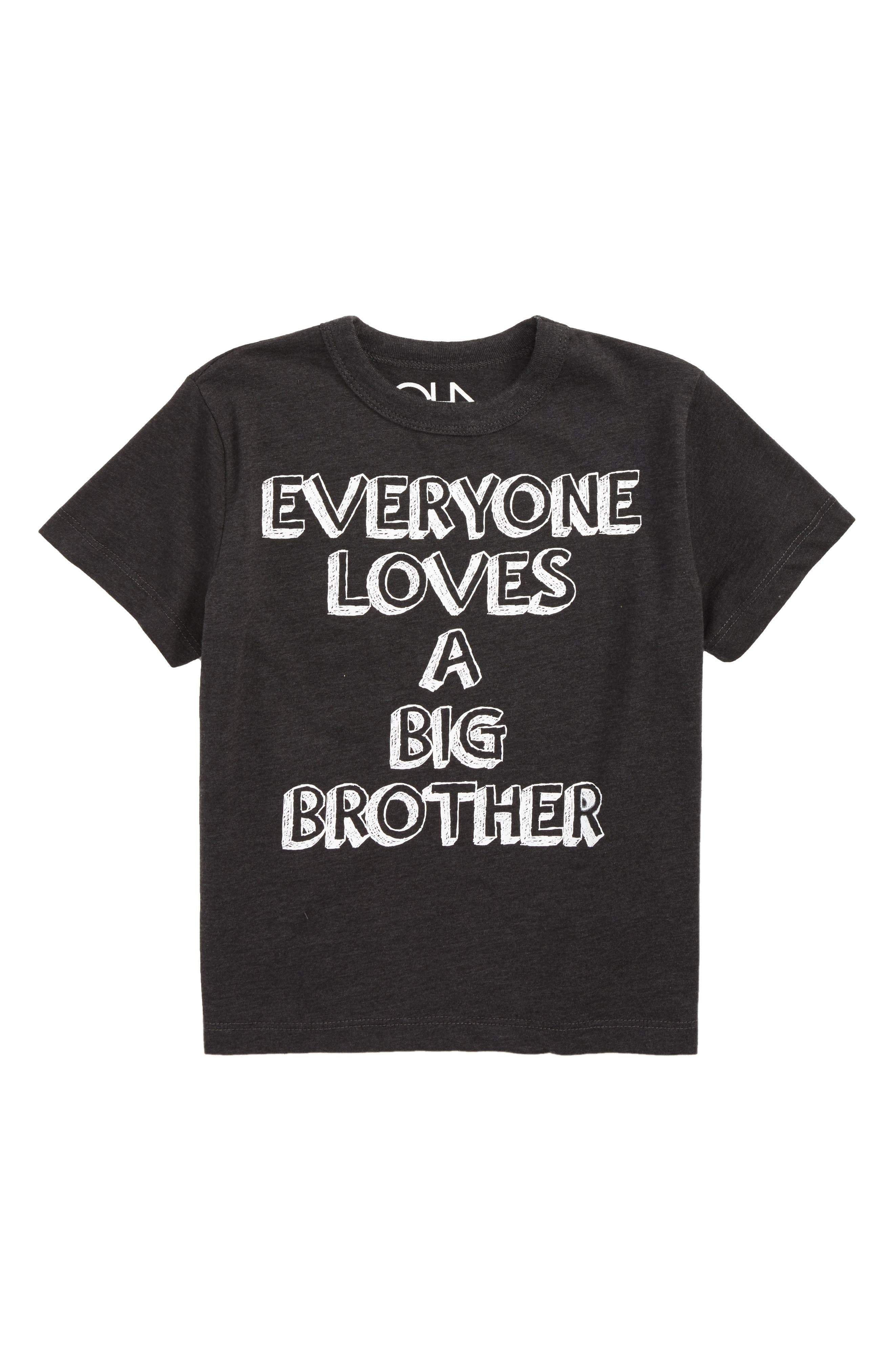 Everyone Loves a Big Brother Graphic T-Shirt,                         Main,                         color, Vintage Black