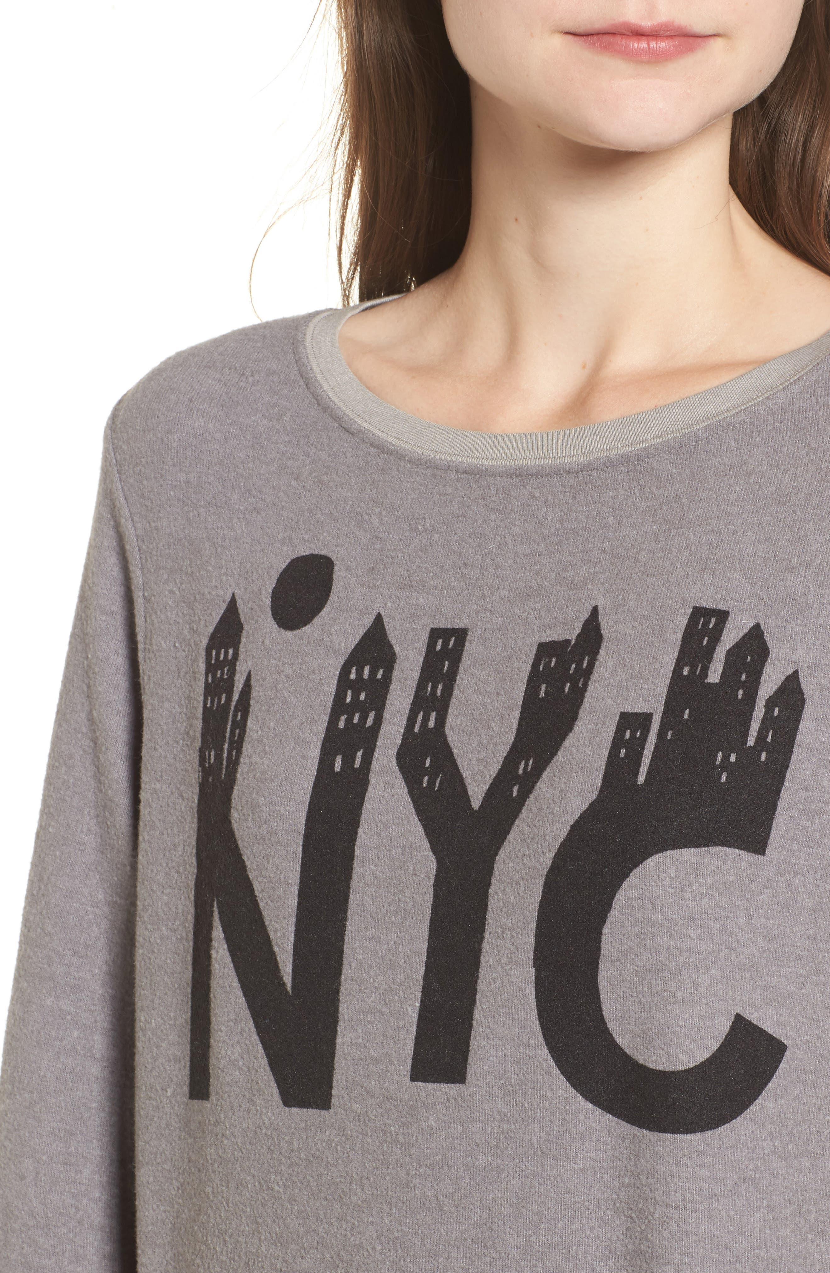 NYC Sweatshirt,                             Alternate thumbnail 4, color,                             Vintage Grey