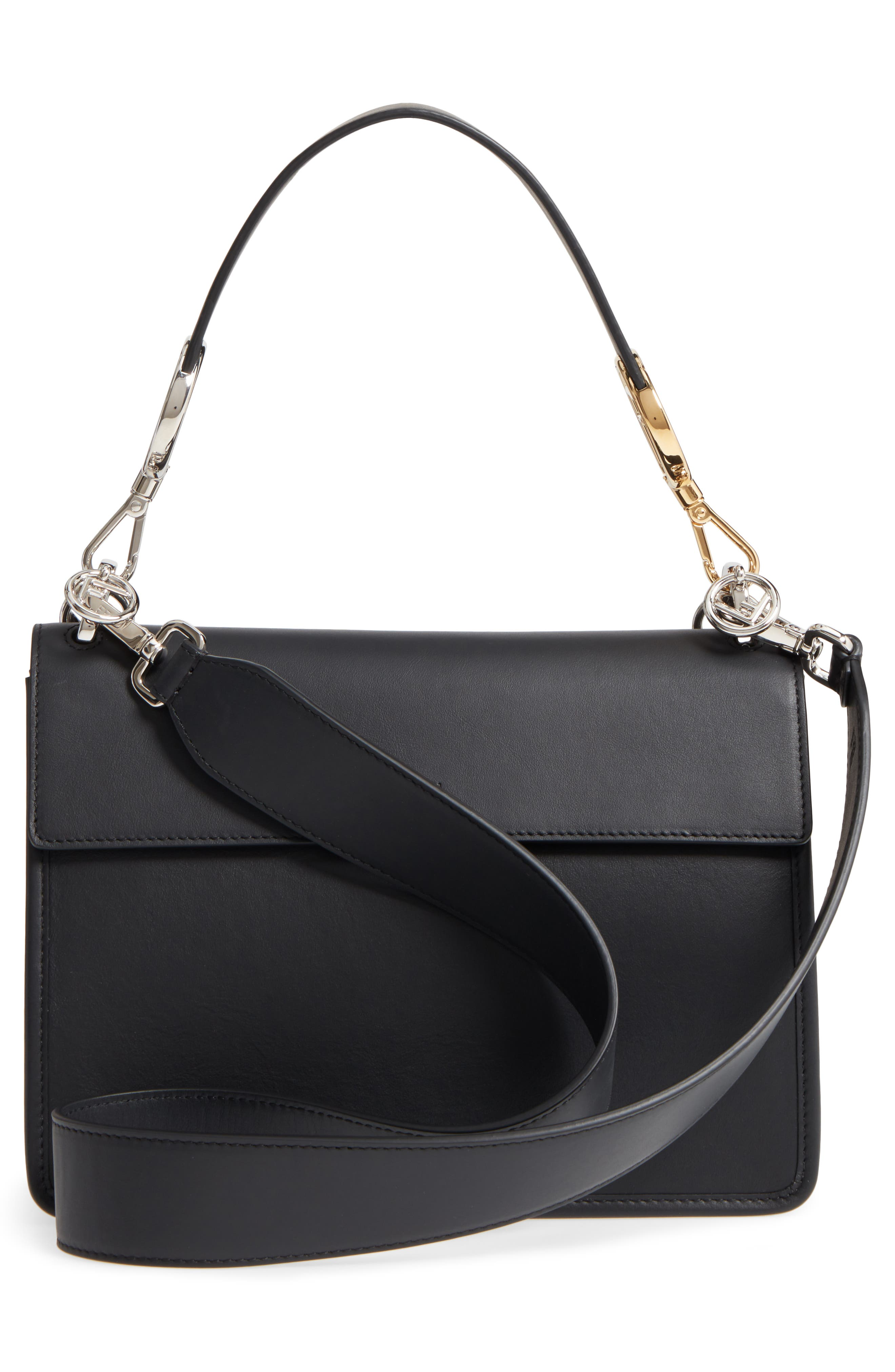 Alternate Image 3  - Fendi Kan I Logo Tappetino Leather & Velvet Shoulder Bag