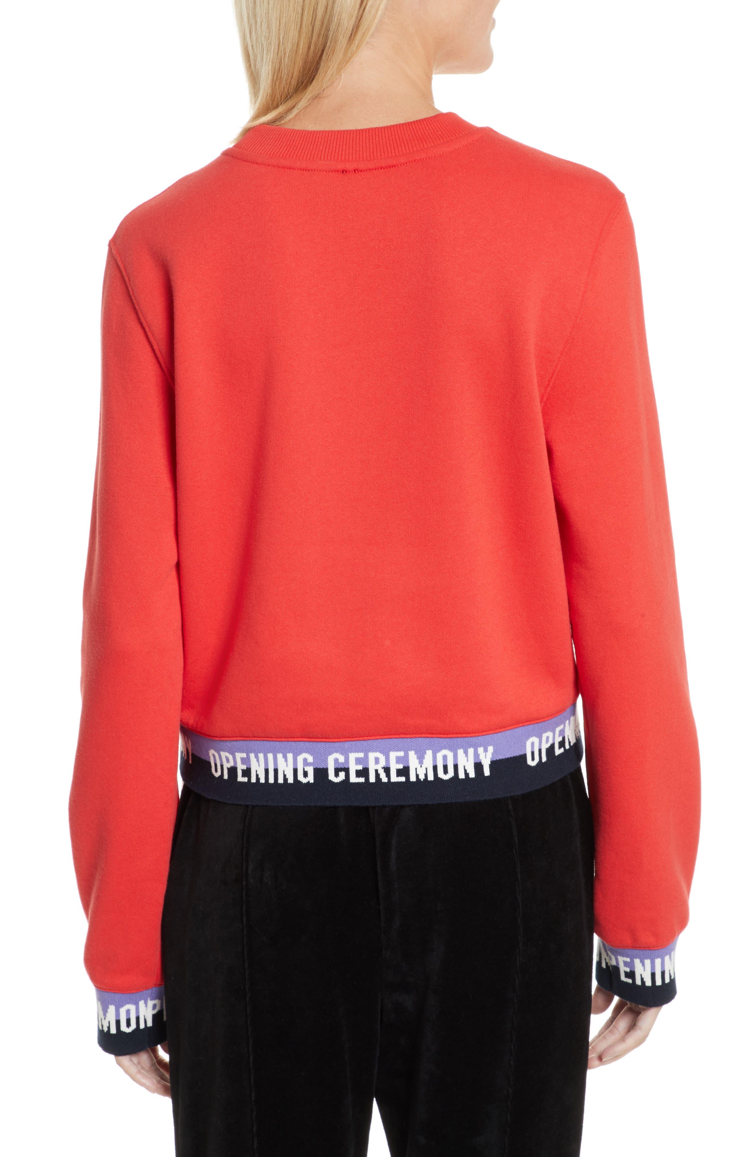 Alternate Image 2  - Opening Ceremony Elastic Logo Crop Sweatshirt (Limited Edition)