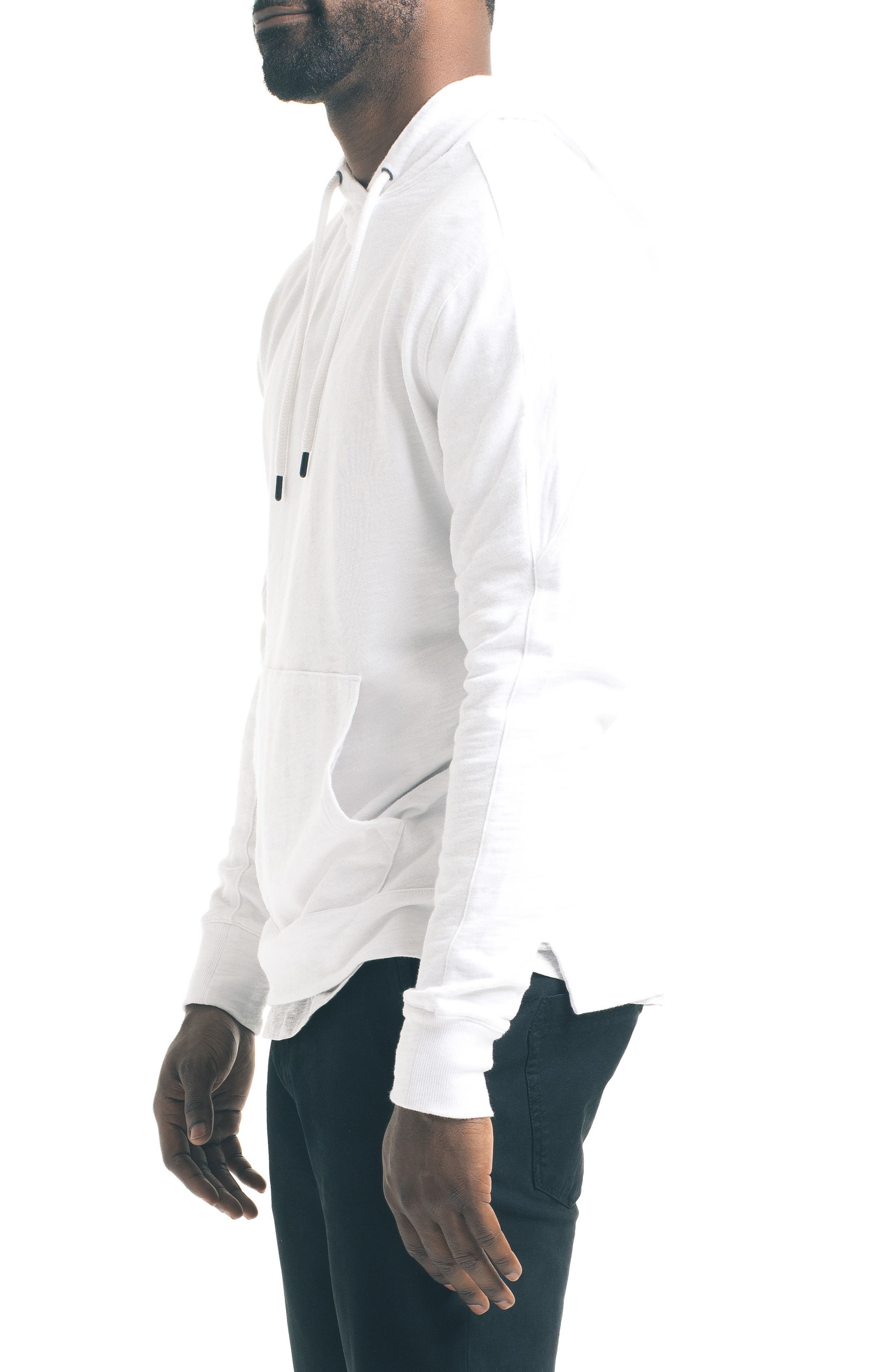 Slim Pro Hoodie,                             Alternate thumbnail 3, color,                             White