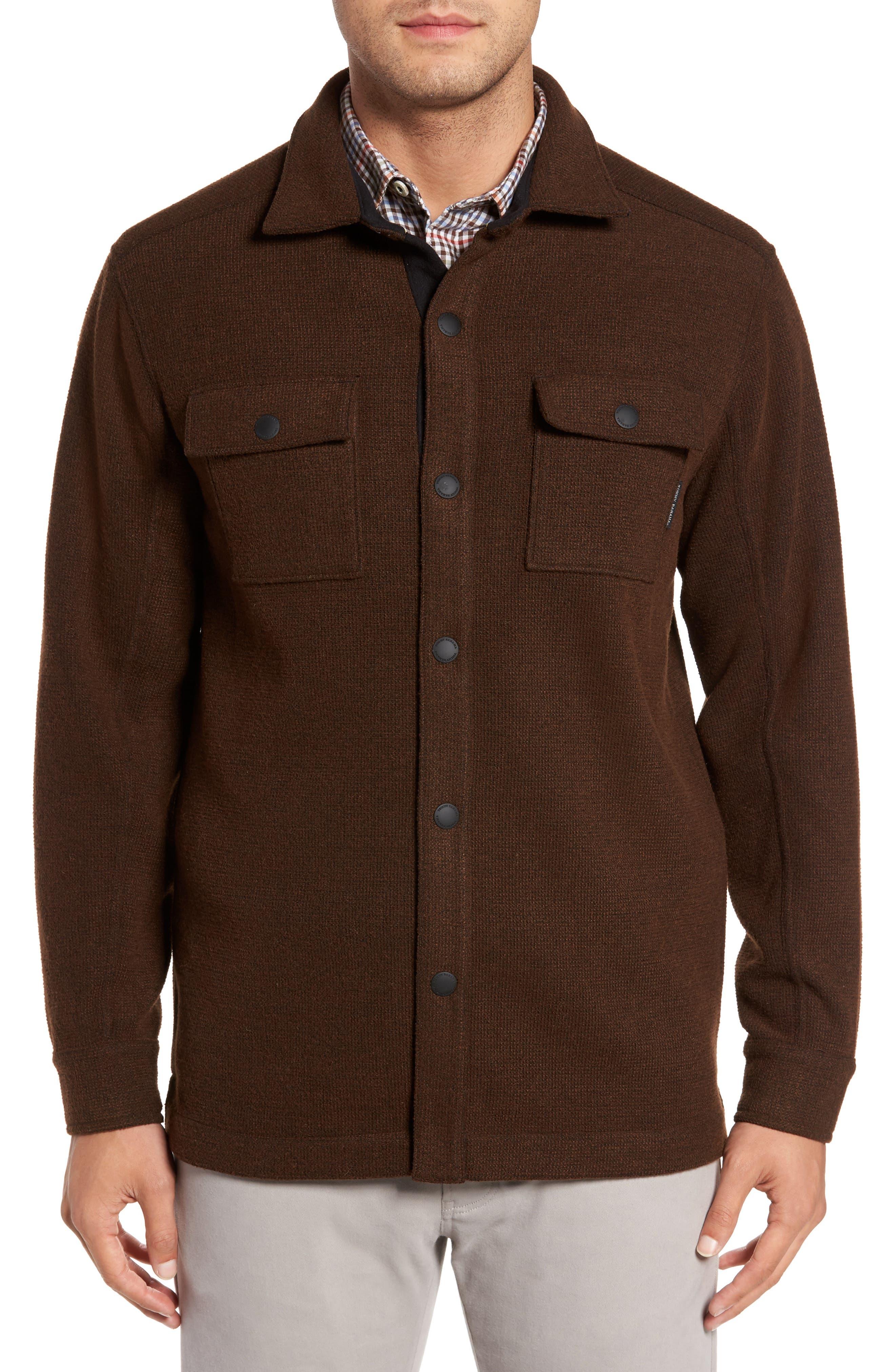 Paradise Creek Snap Front Fleece Jacket,                         Main,                         color, Double Chocolate