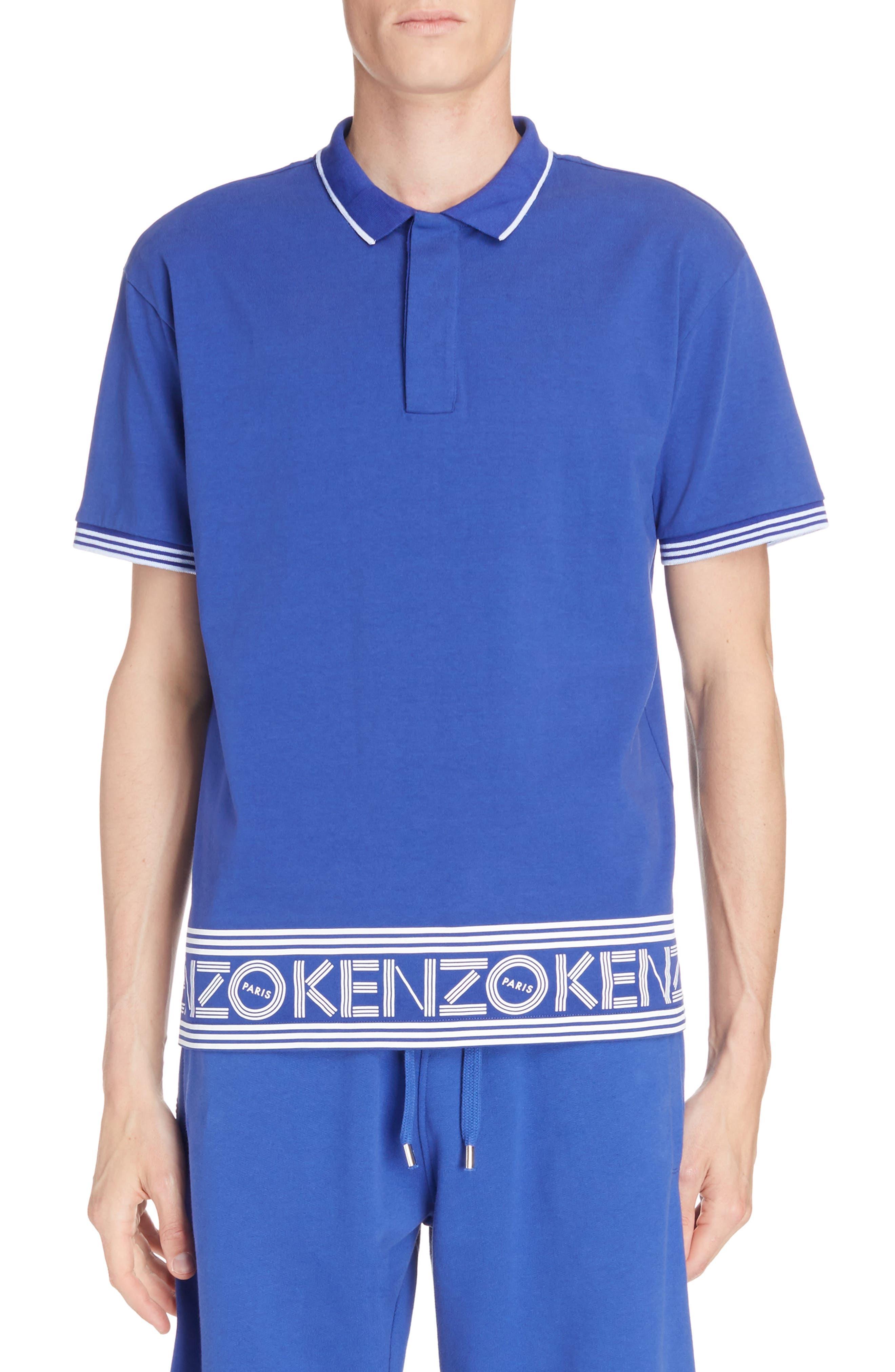 KENZO Logo Hem Tipped Polo