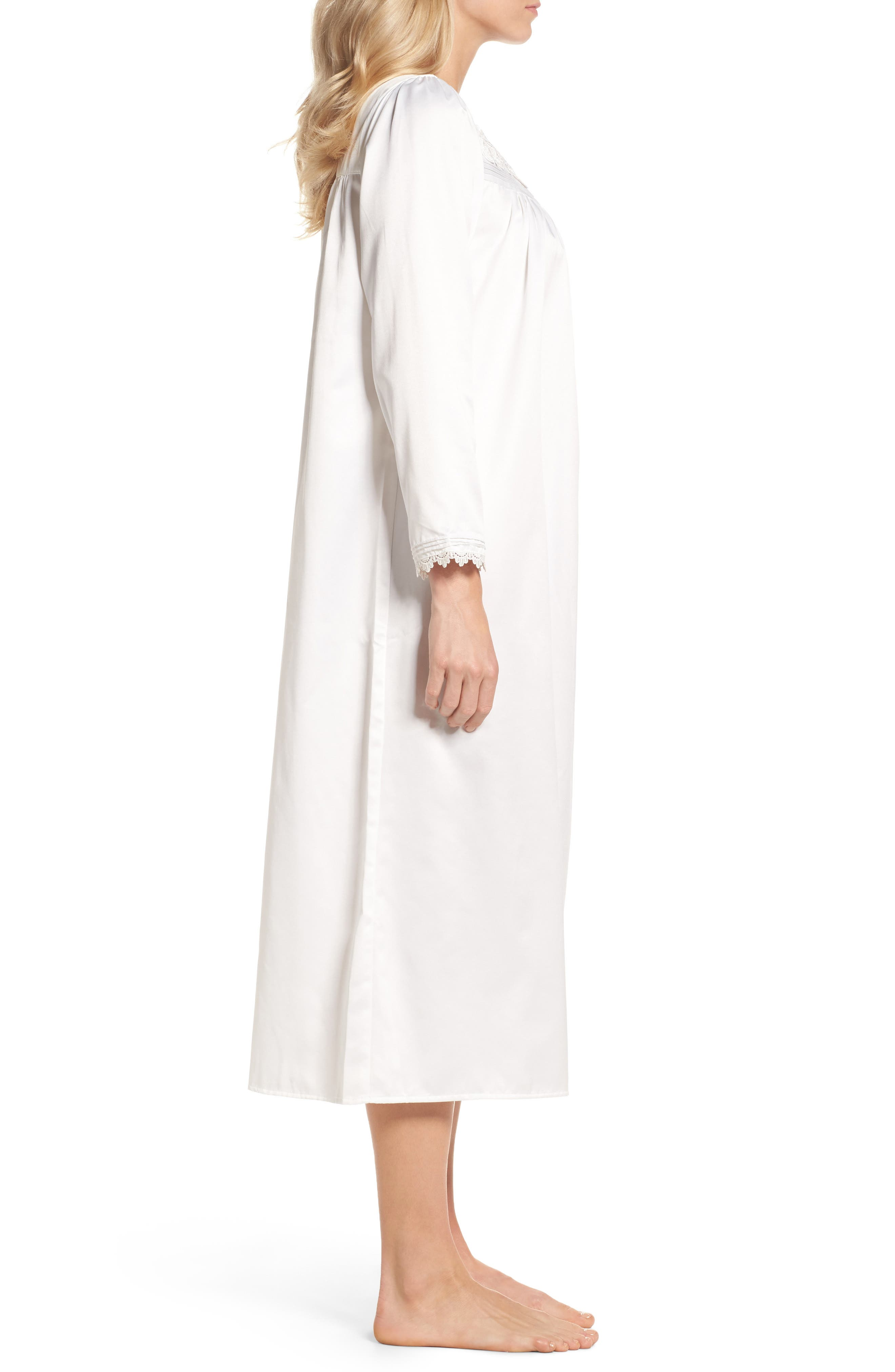 Nightgown,                             Alternate thumbnail 3, color,                             Solid Winter White