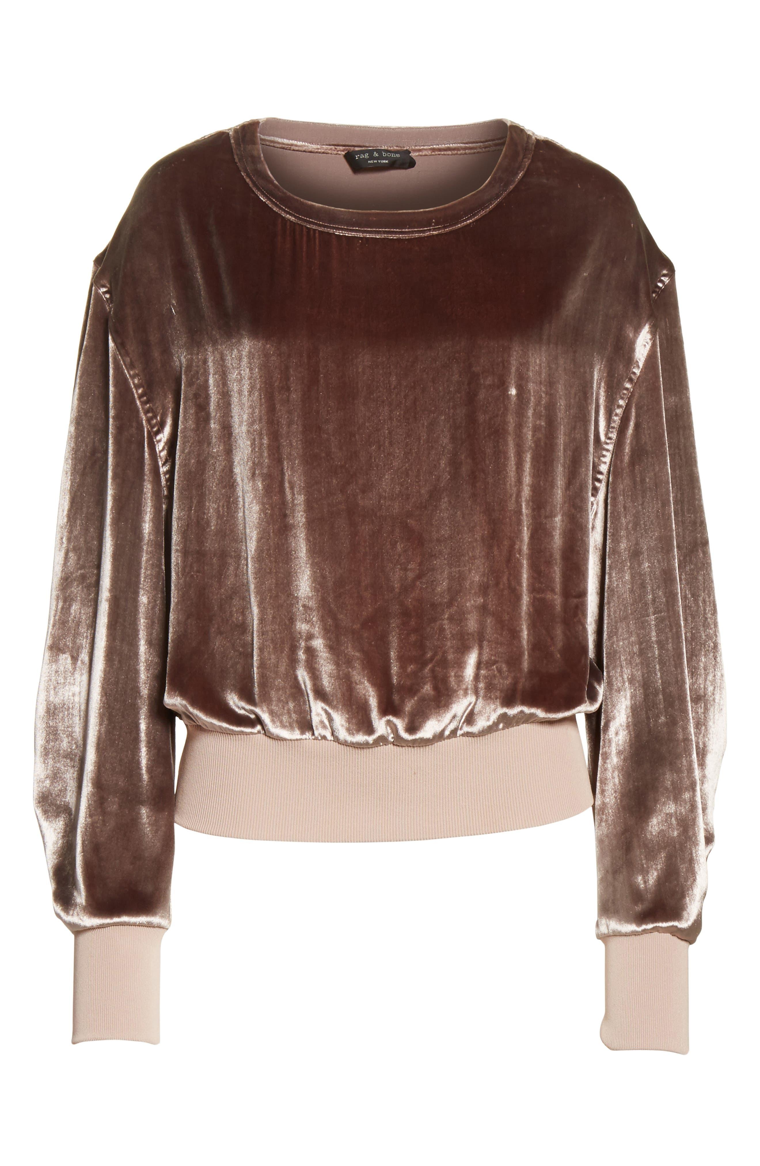 Alternate Image 7  - rag & bone Velvet Sweatshirt