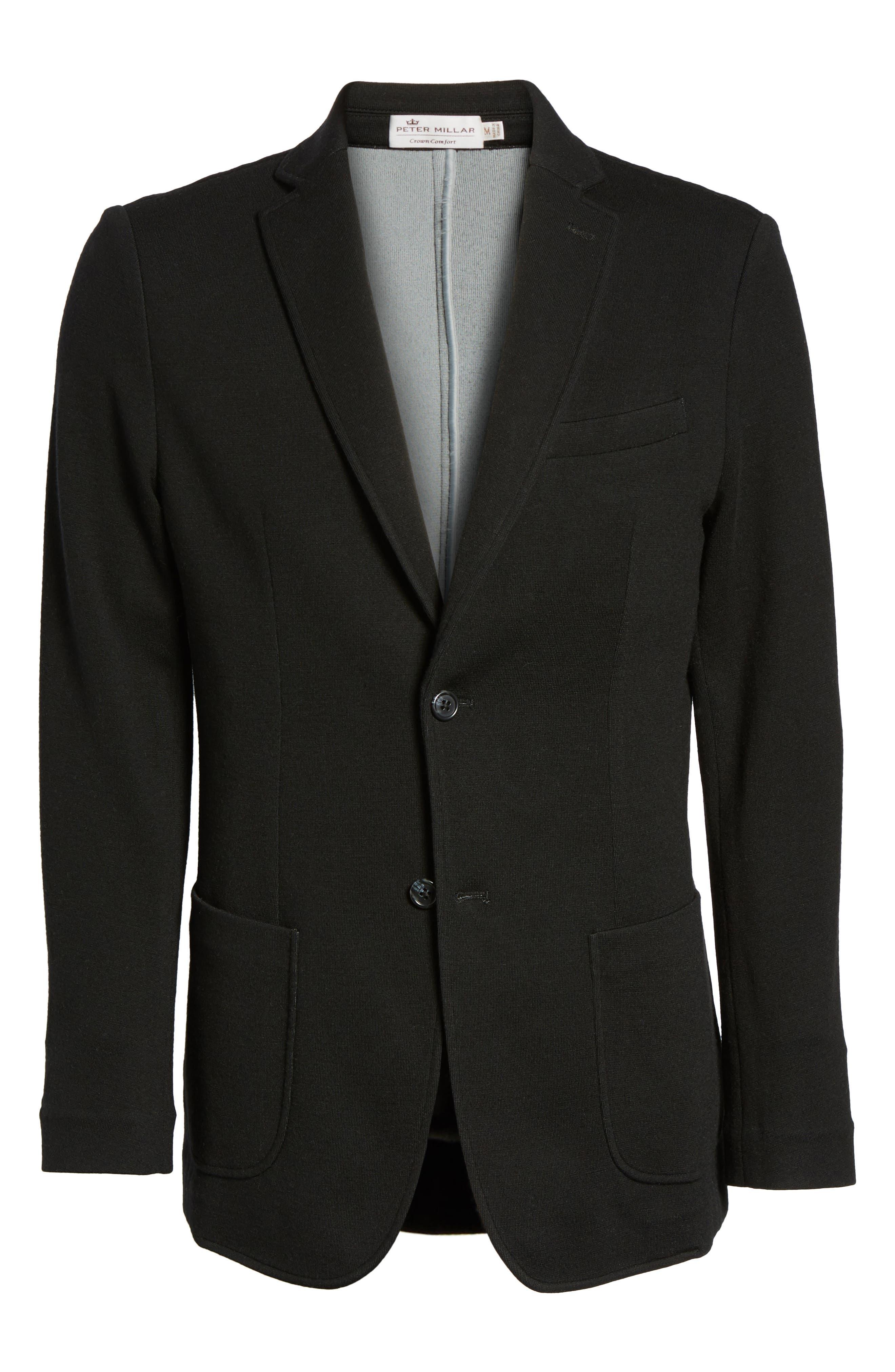 Crown Classic Fit Blazer,                             Alternate thumbnail 7, color,                             Black