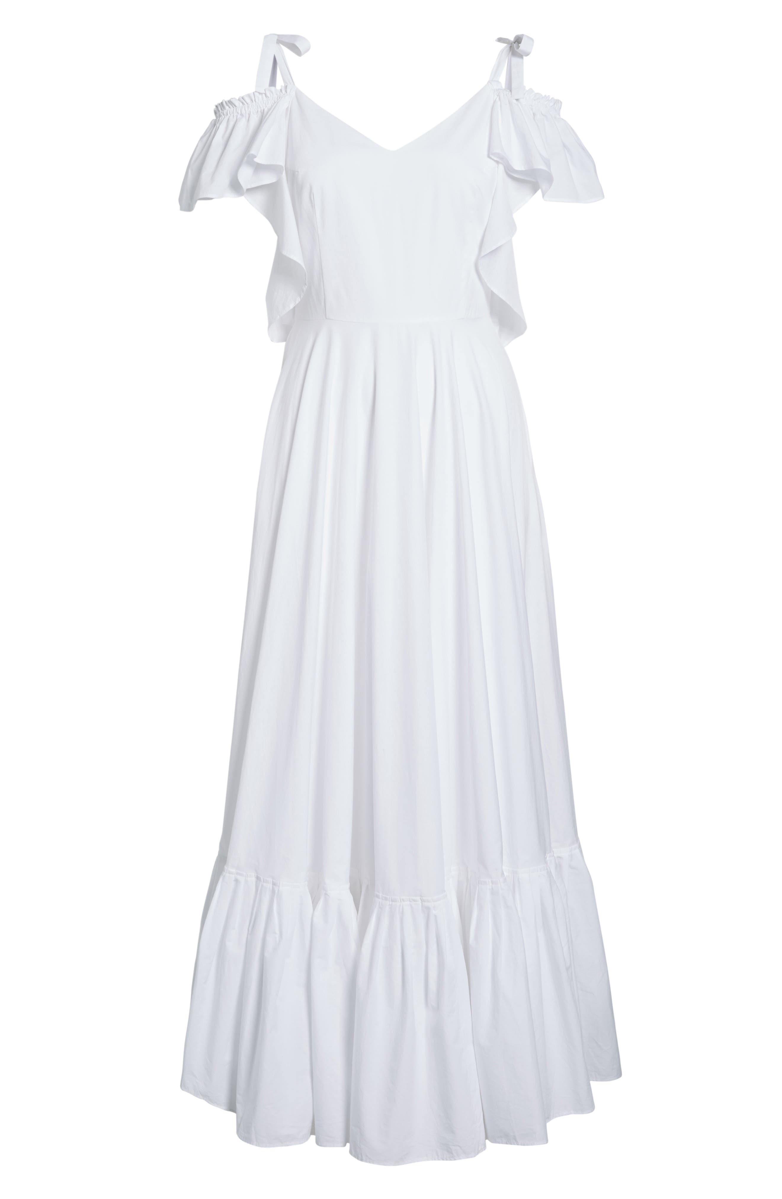 Lake Como Maxi Dress,                             Alternate thumbnail 6, color,                             White