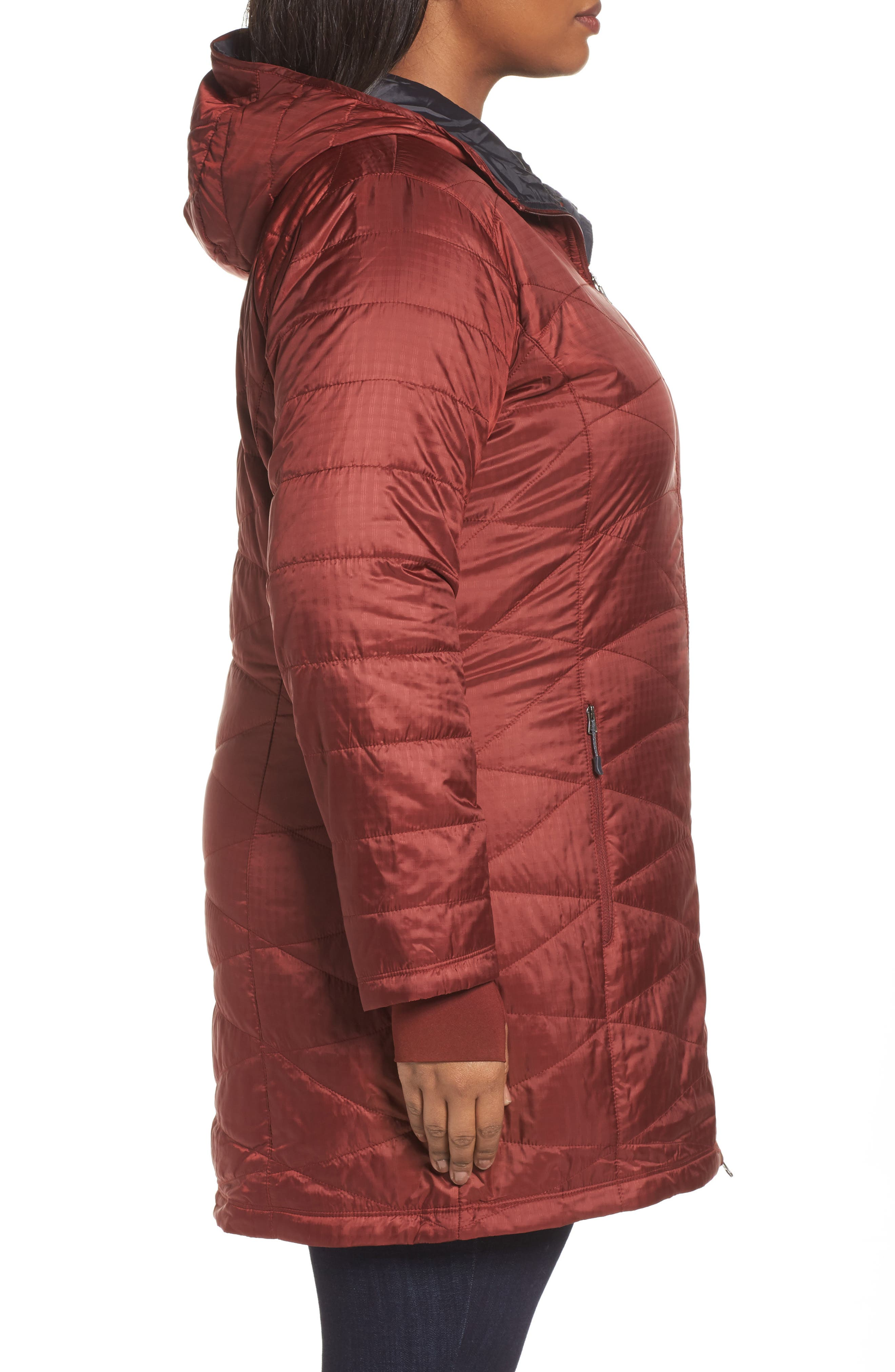 Mighty Lite Hooded Jacket,                             Alternate thumbnail 3, color,                             Deep Rust