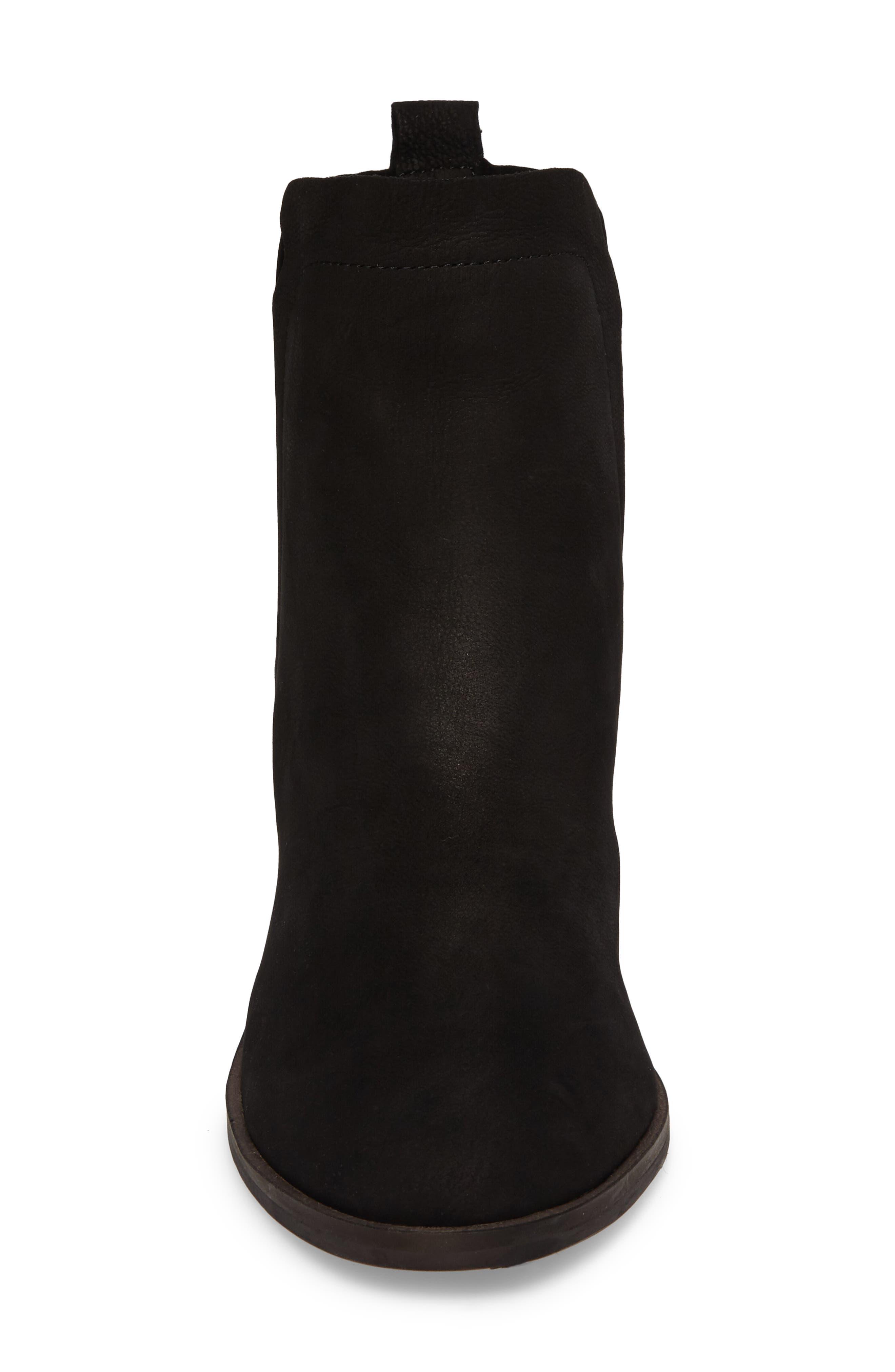 Jana Bootie,                             Alternate thumbnail 4, color,                             Black Leather
