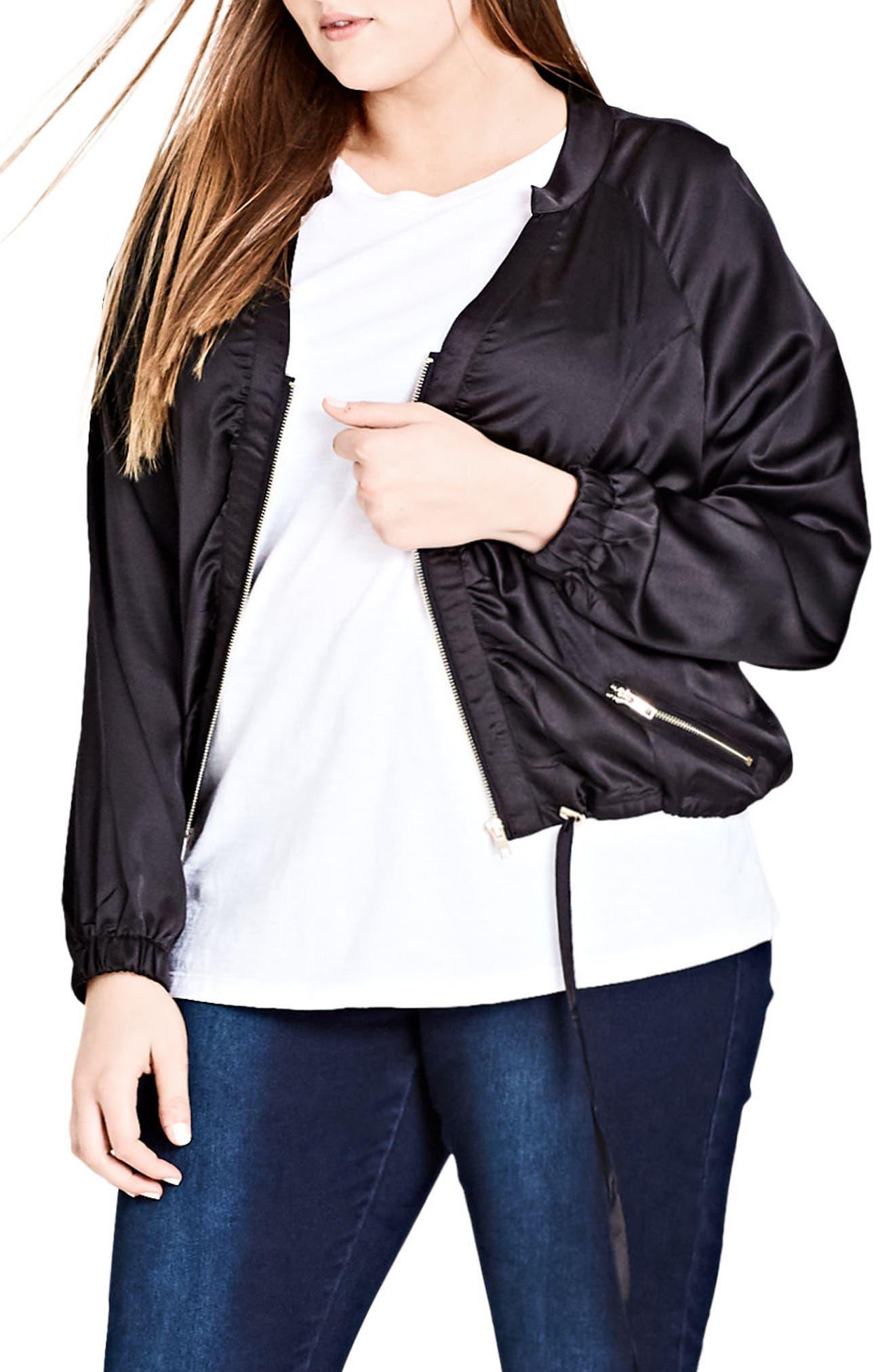 Main Image - City Chic 'Jungle Heat' Jacket (Plus Size)