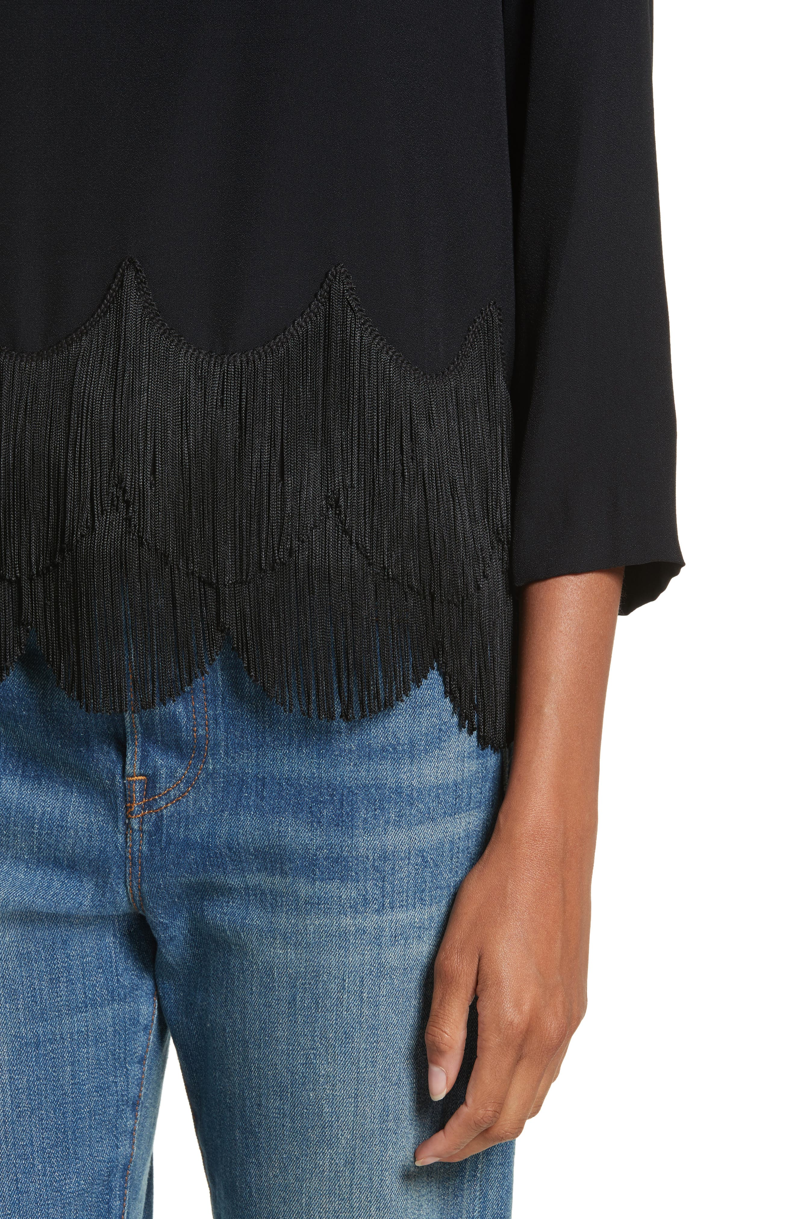 Alternate Image 4  - MARC JACOBS Fringe Hem Turtleneck