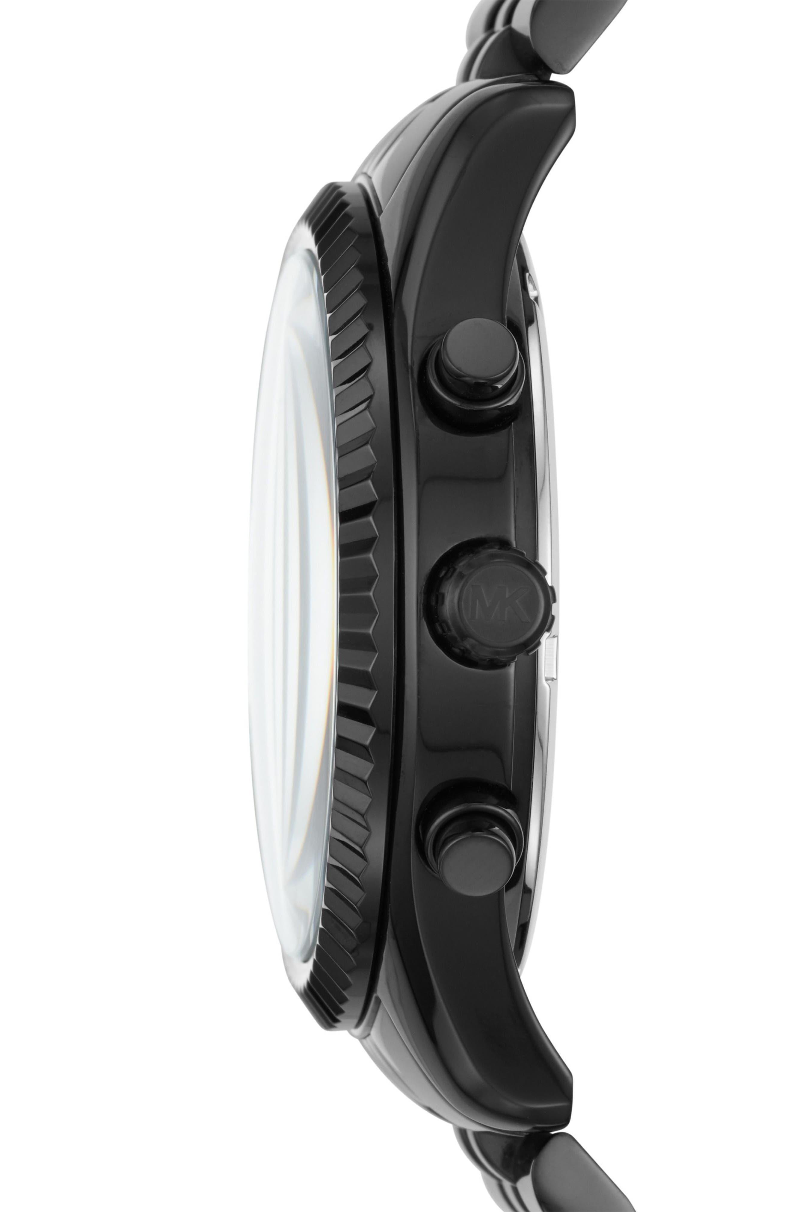 Alternate Image 2  - Michael Kors Lexington Chronograph Bracelet Watch, 44mm