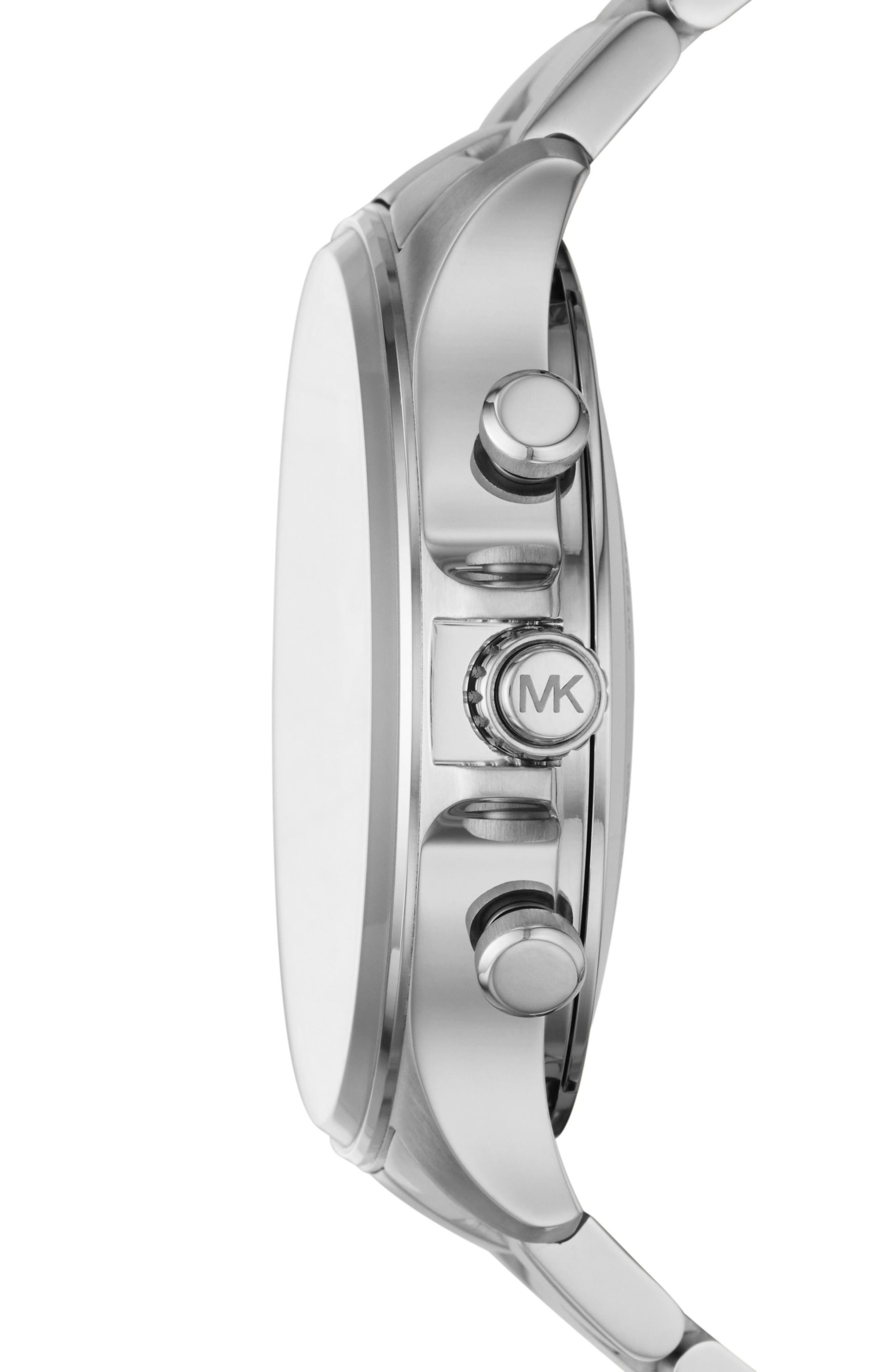 Alternate Image 3  - Michael Kors Access Reid Hybrid Bracelet Watch, 45mm