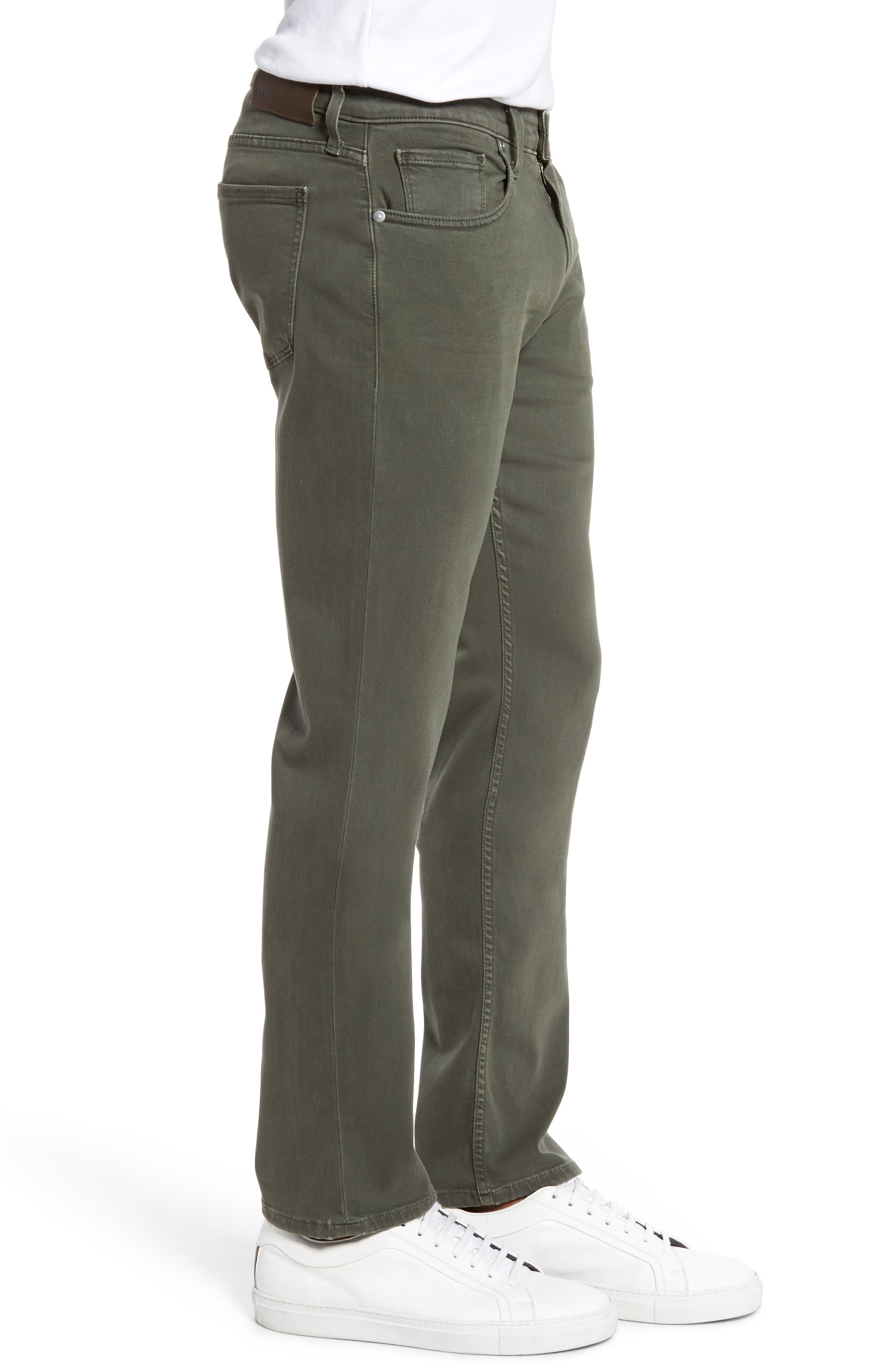 Transcend - Federal Slim Straight Leg Jeans,                             Alternate thumbnail 3, color,                             Vintage Green Fields