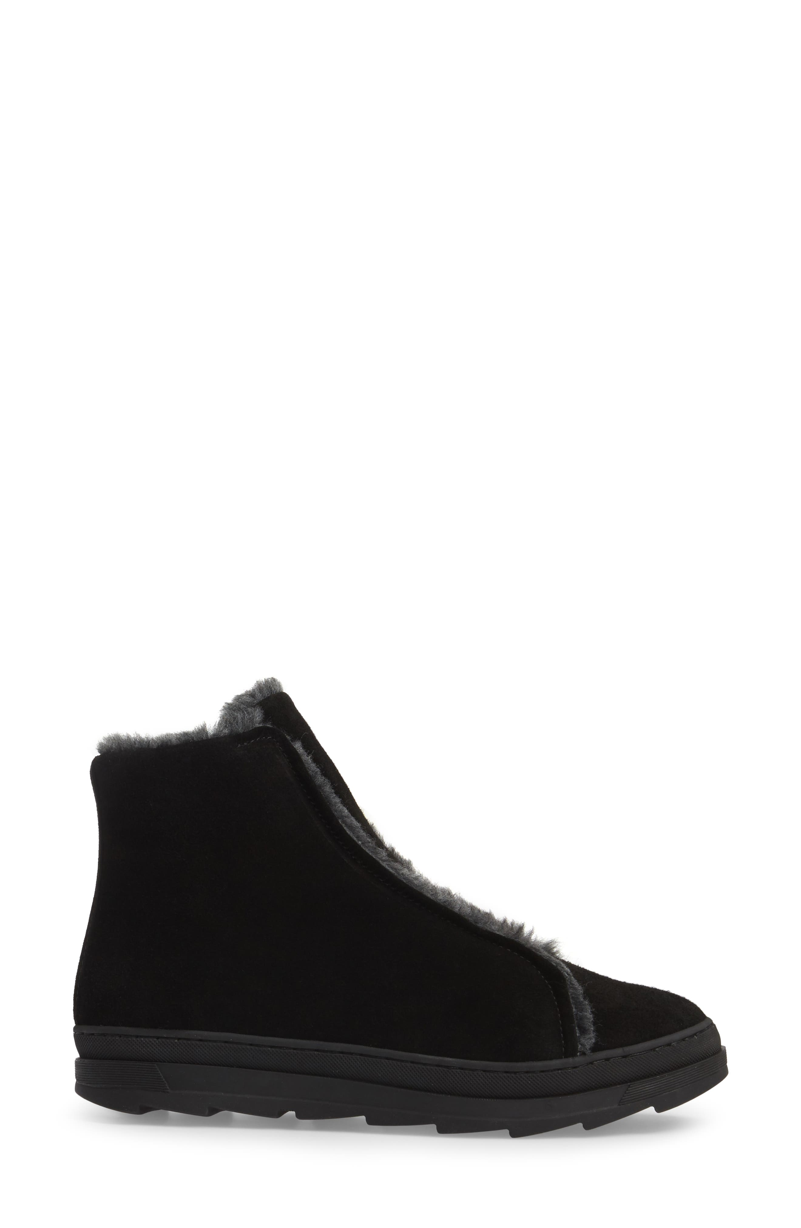Virina Boot,                             Alternate thumbnail 3, color,                             Black Suede
