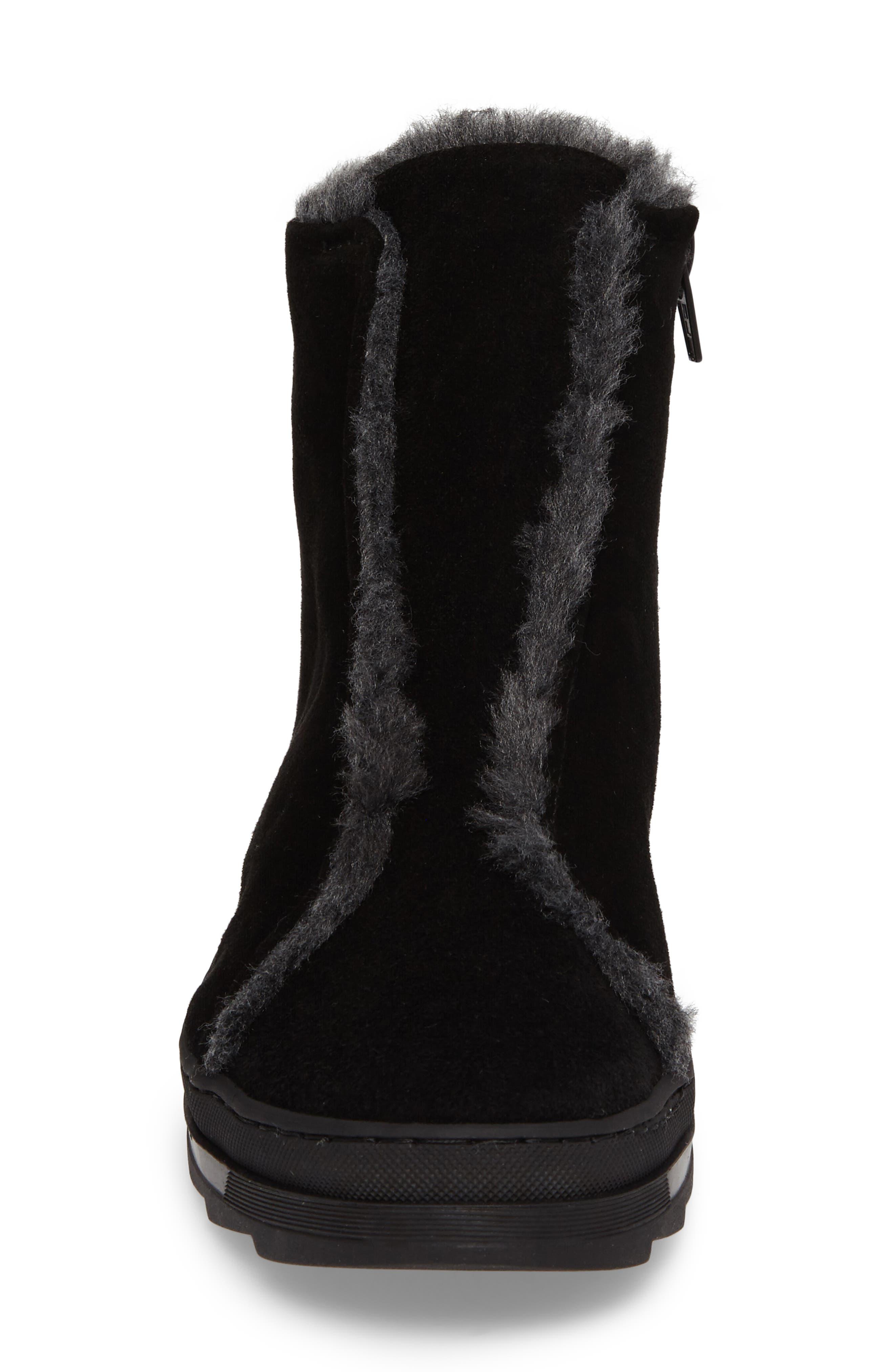Virina Boot,                             Alternate thumbnail 4, color,                             Black Suede
