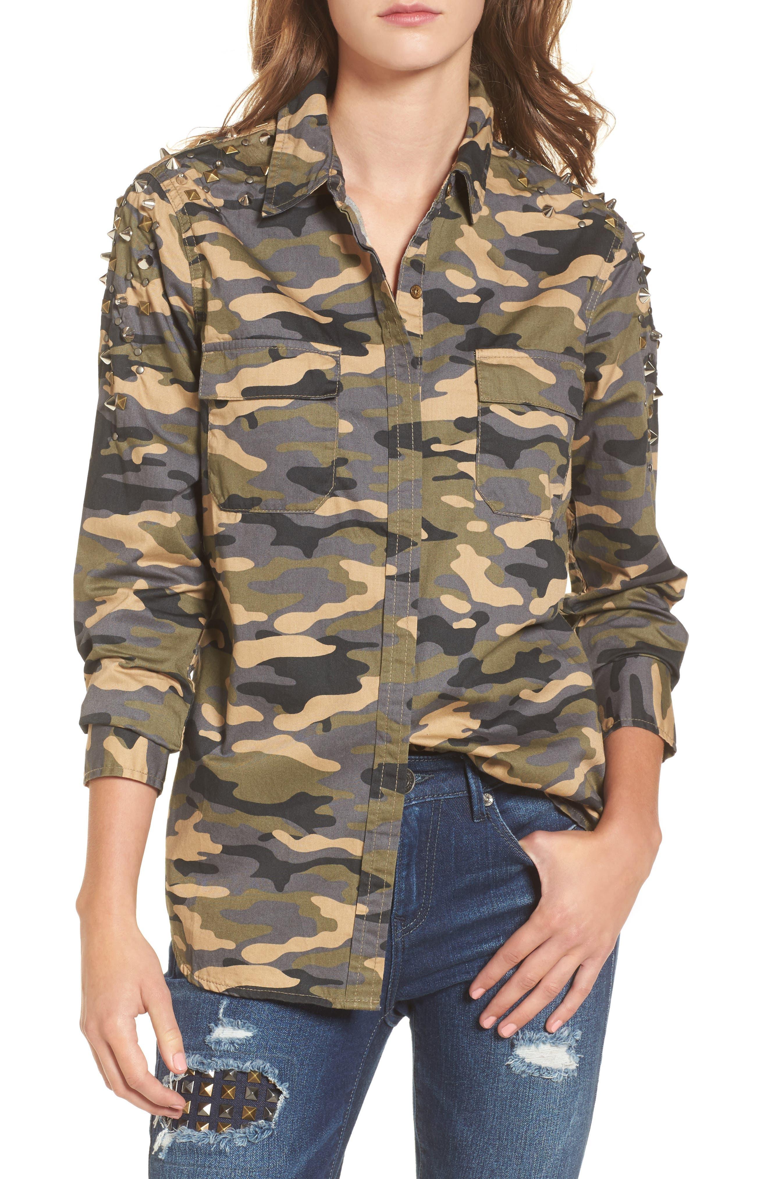 True Religion Brand Jeans Camo Utility Shirt