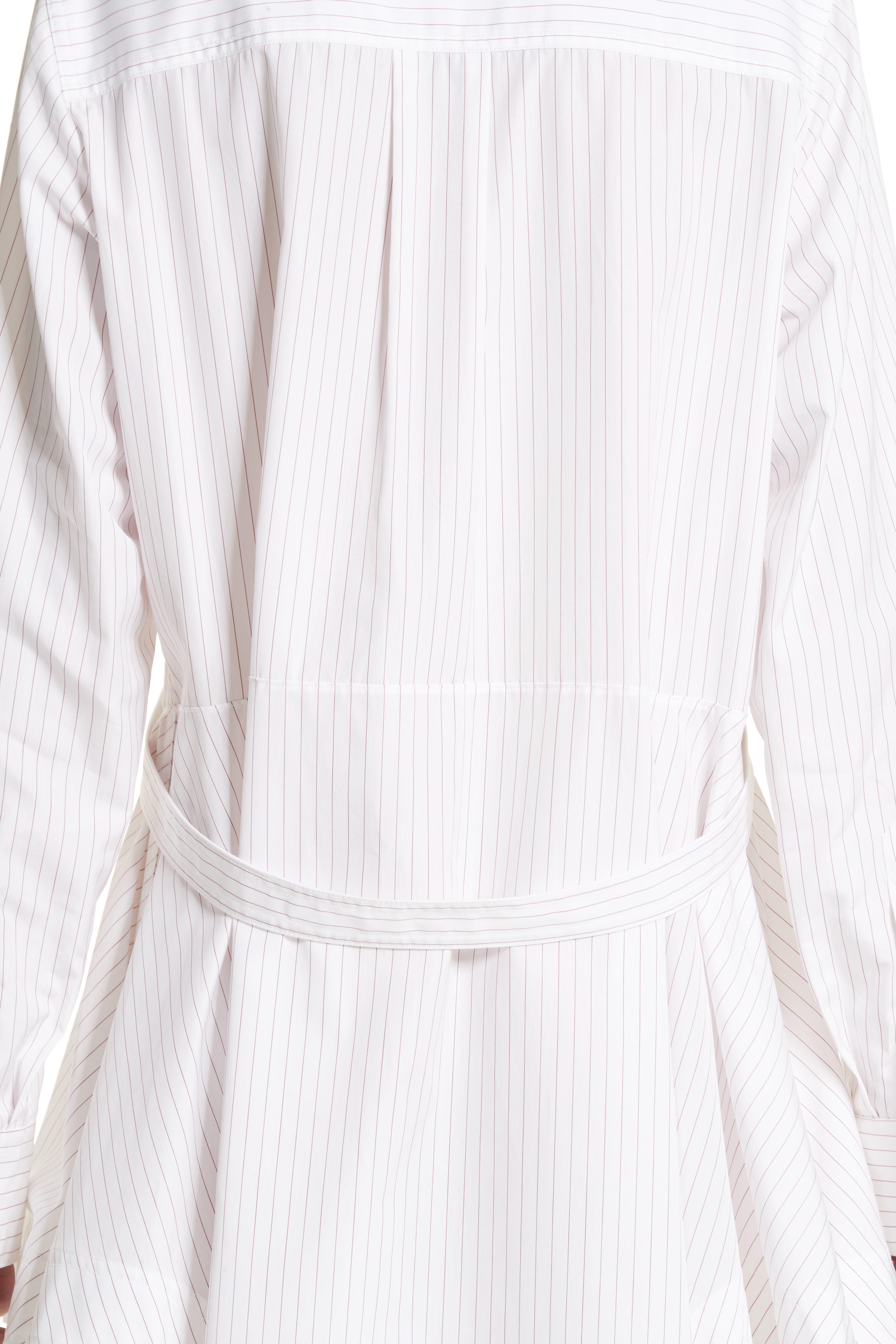 Alternate Image 5  - Calvin Klein 205W39NYC Pinstripe Cotton Poplin Dress
