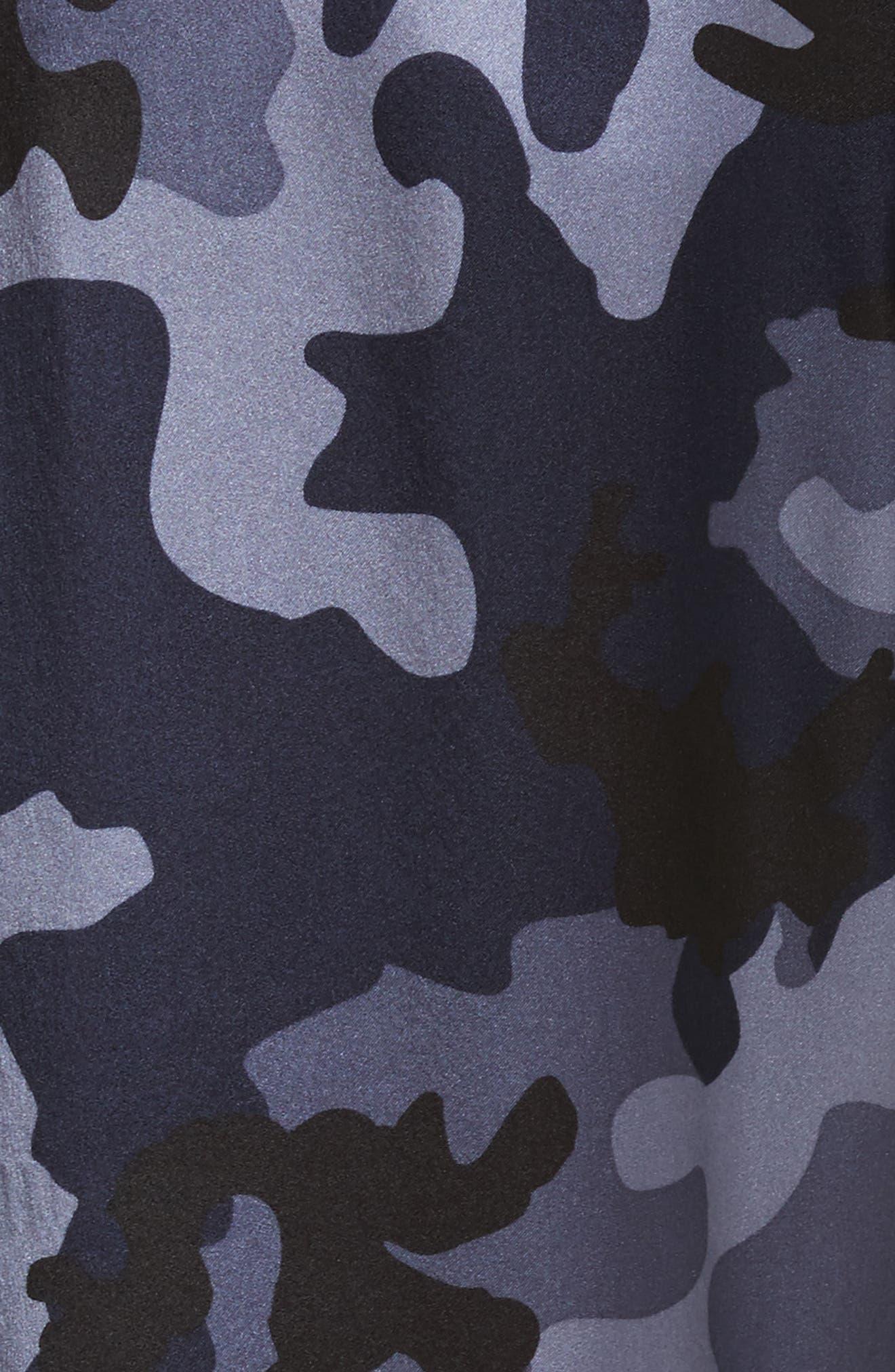 Camo Silk Lounge Pants,                             Alternate thumbnail 5, color,                             Blue Camo