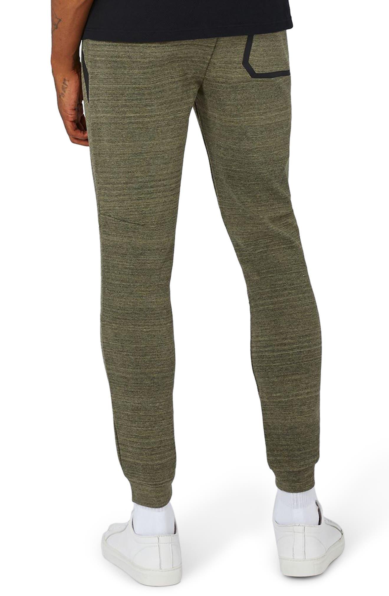 Zip Detail Skinny Jogger Pants,                             Alternate thumbnail 2, color,                             Olive