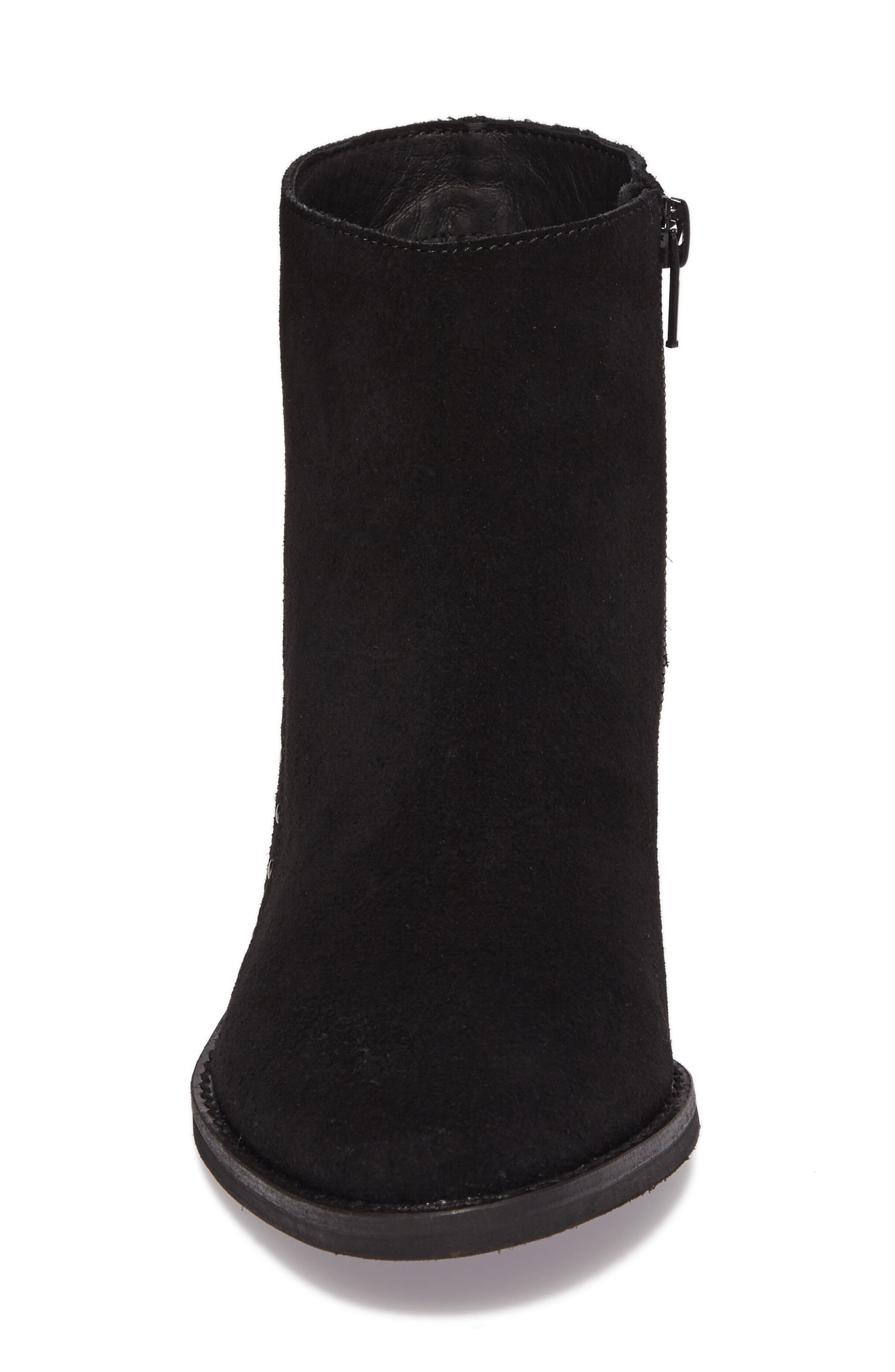 Irven Stud Bootie,                             Alternate thumbnail 4, color,                             Black Suede