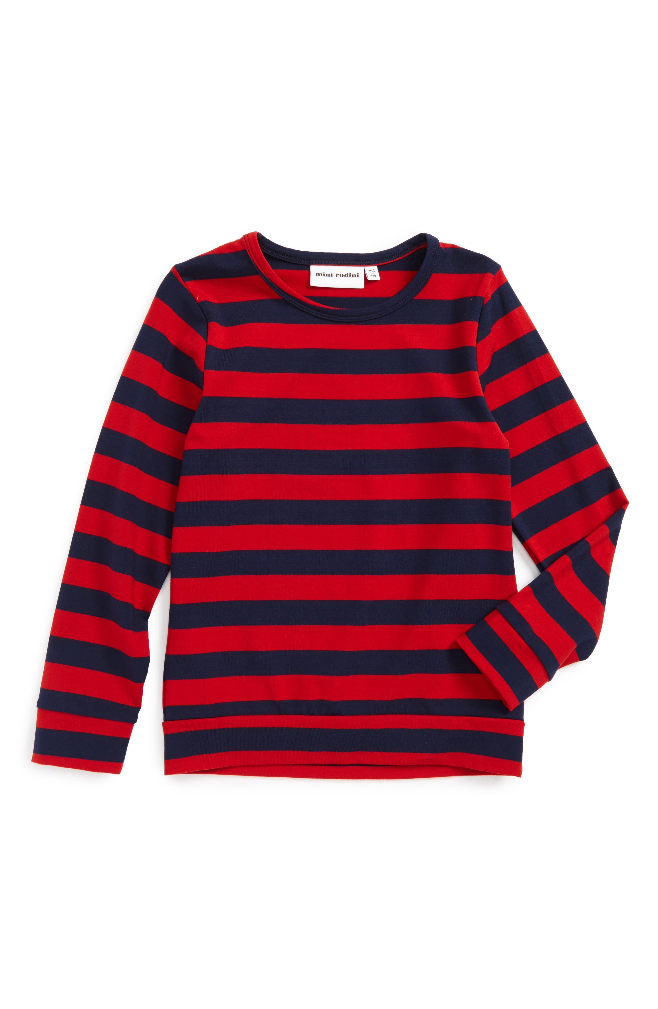 Stripe T-Shirt,                             Main thumbnail 1, color,                             Red