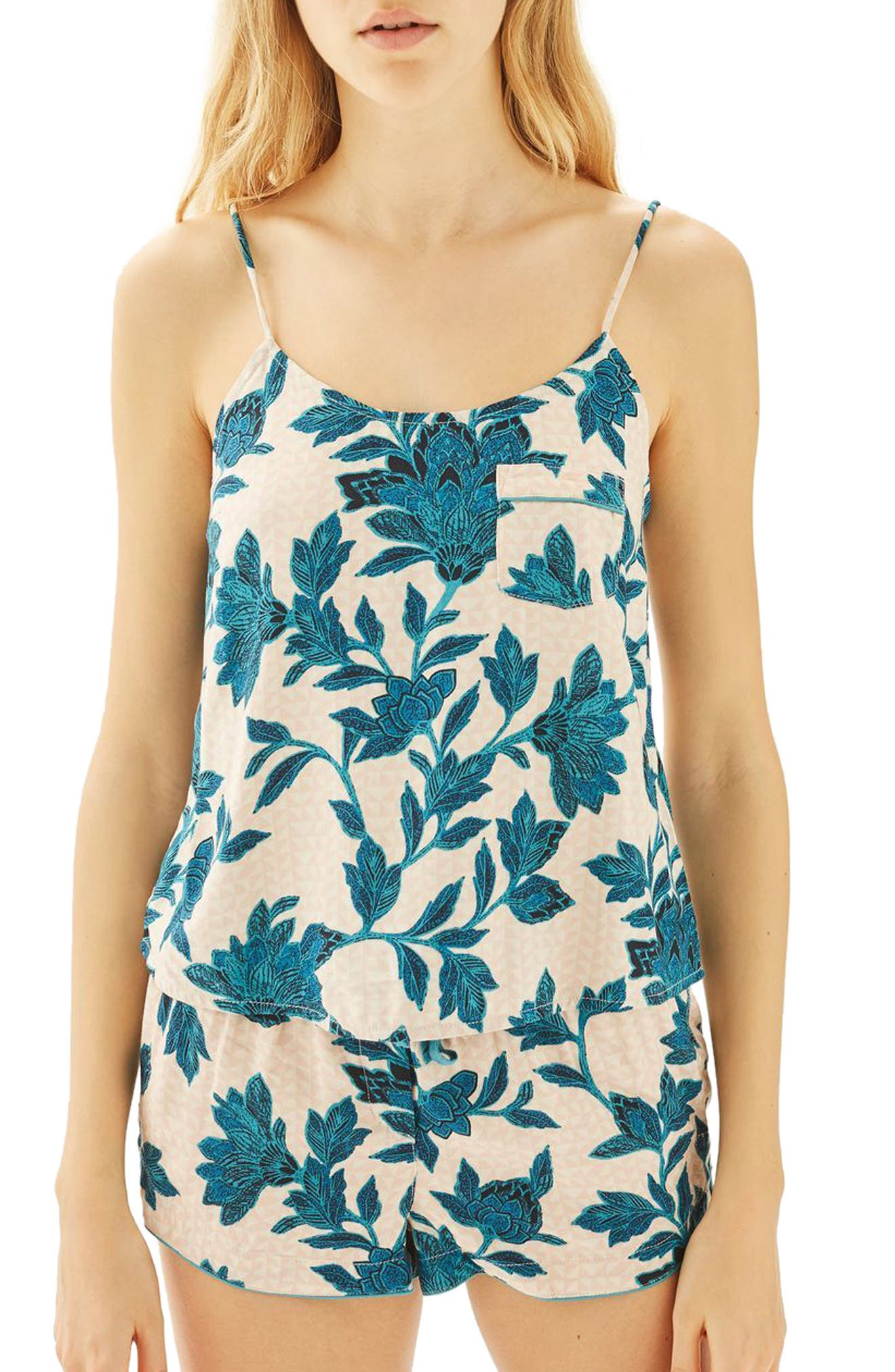 Topshop Geometric Floral Short Pajamas