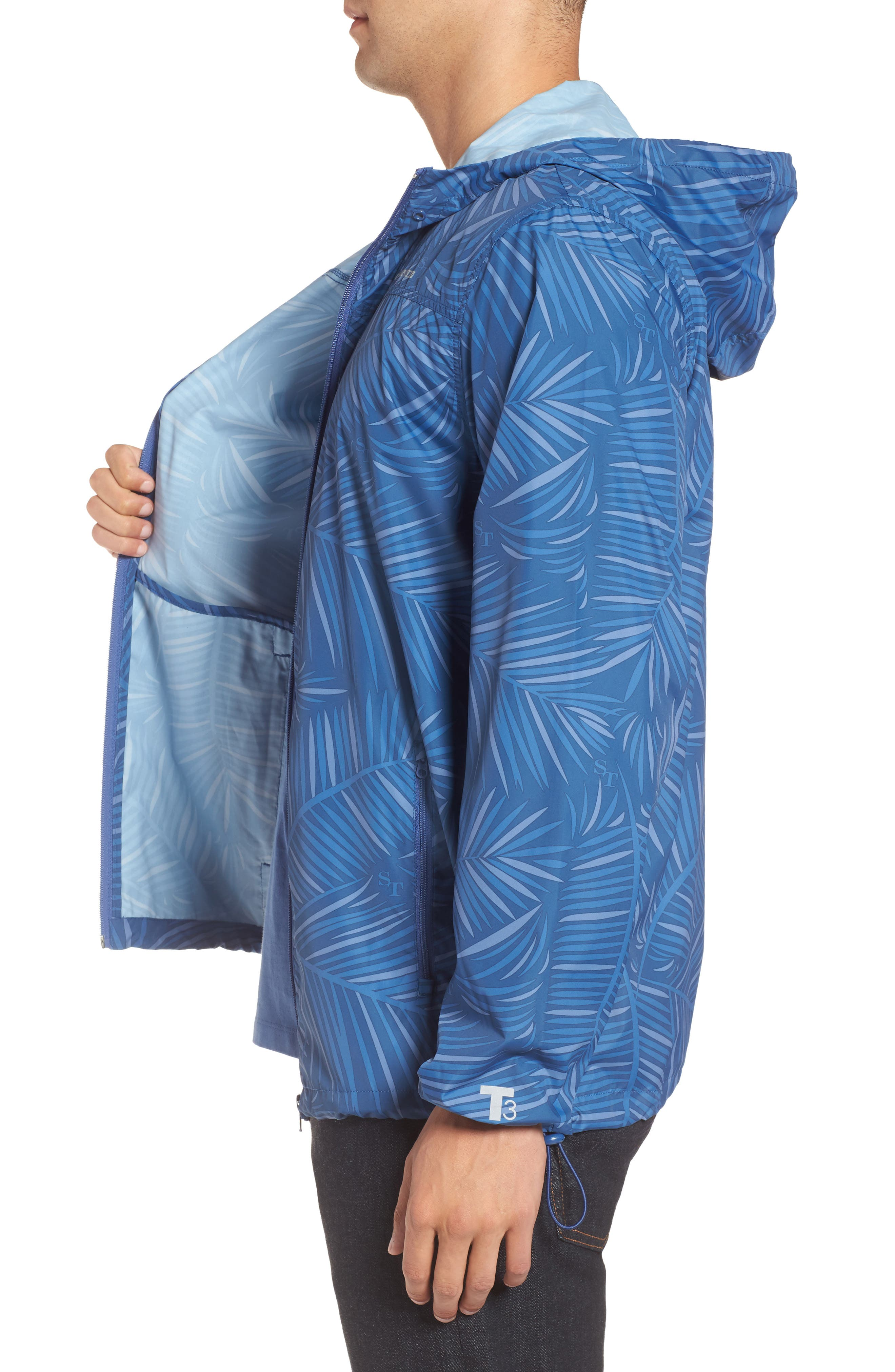 Pelican Peak Full Zip Hooded Jacket,                             Alternate thumbnail 3, color,                             Seven Seas Blue