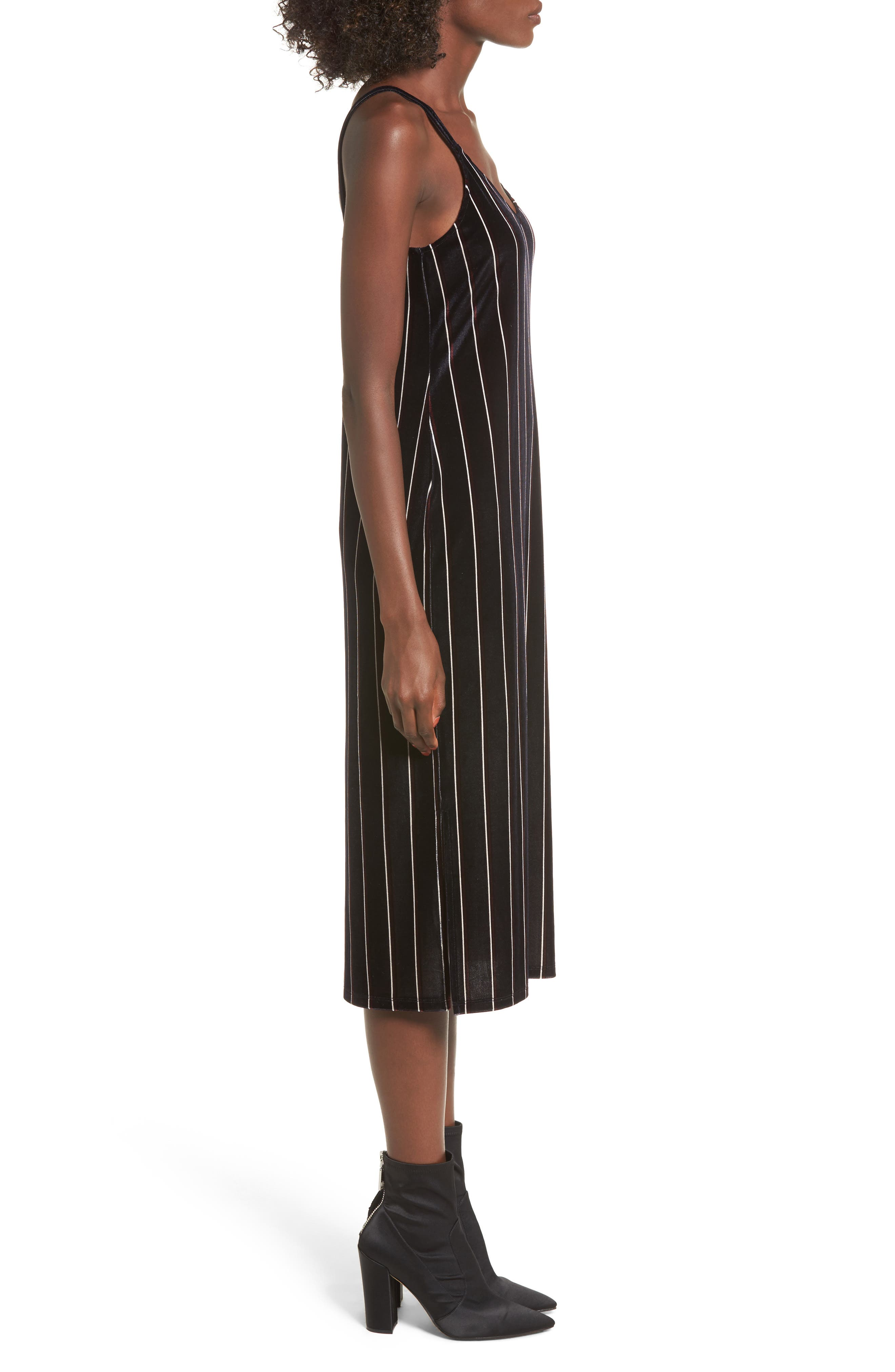 Alternate Image 3  - Leith Stripe Velour Slipdress