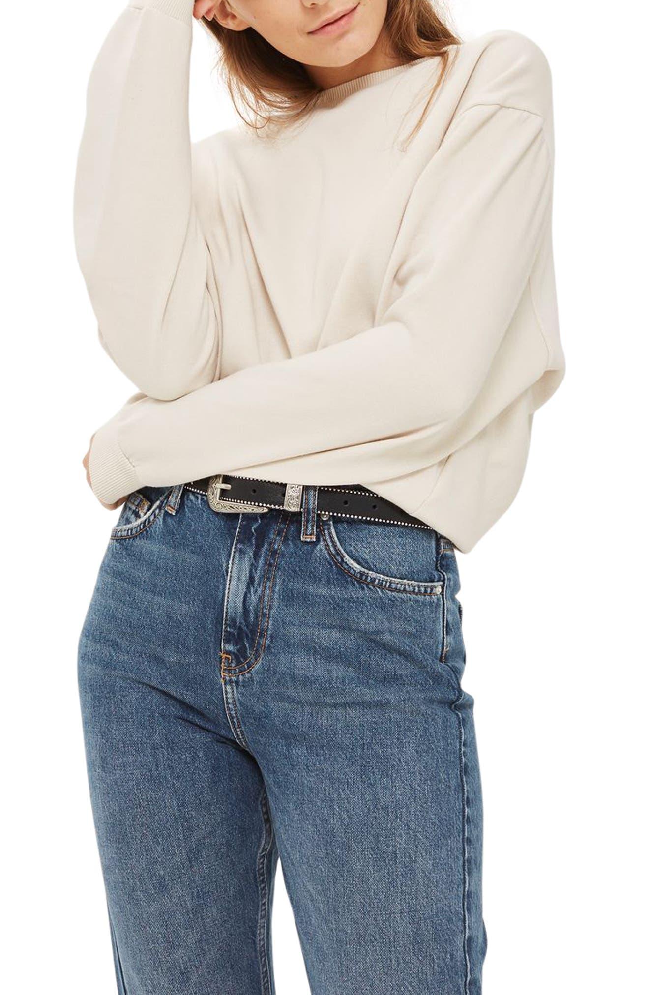 Sloppy Sweatshirt,                         Main,                         color, Grey Marl
