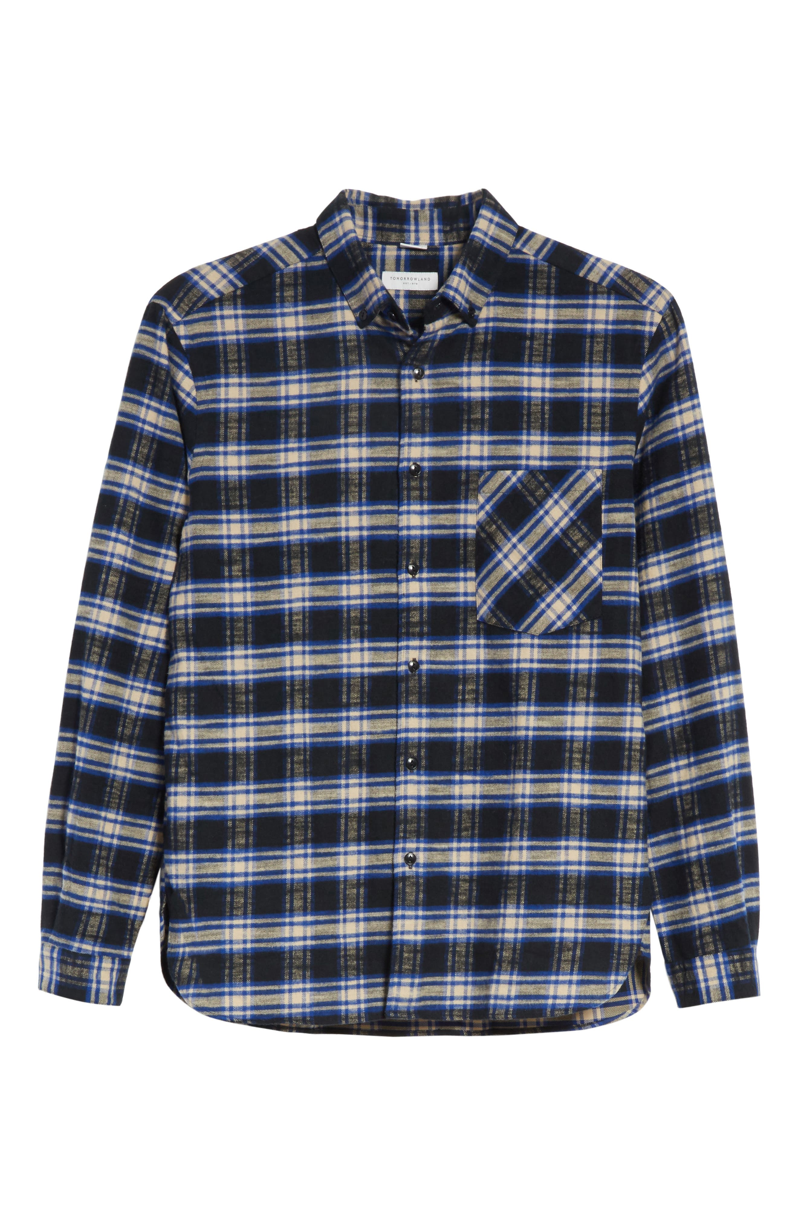 Alternate Image 6  - Tomorrowland Bradford Plaid Flannel Sport Shirt