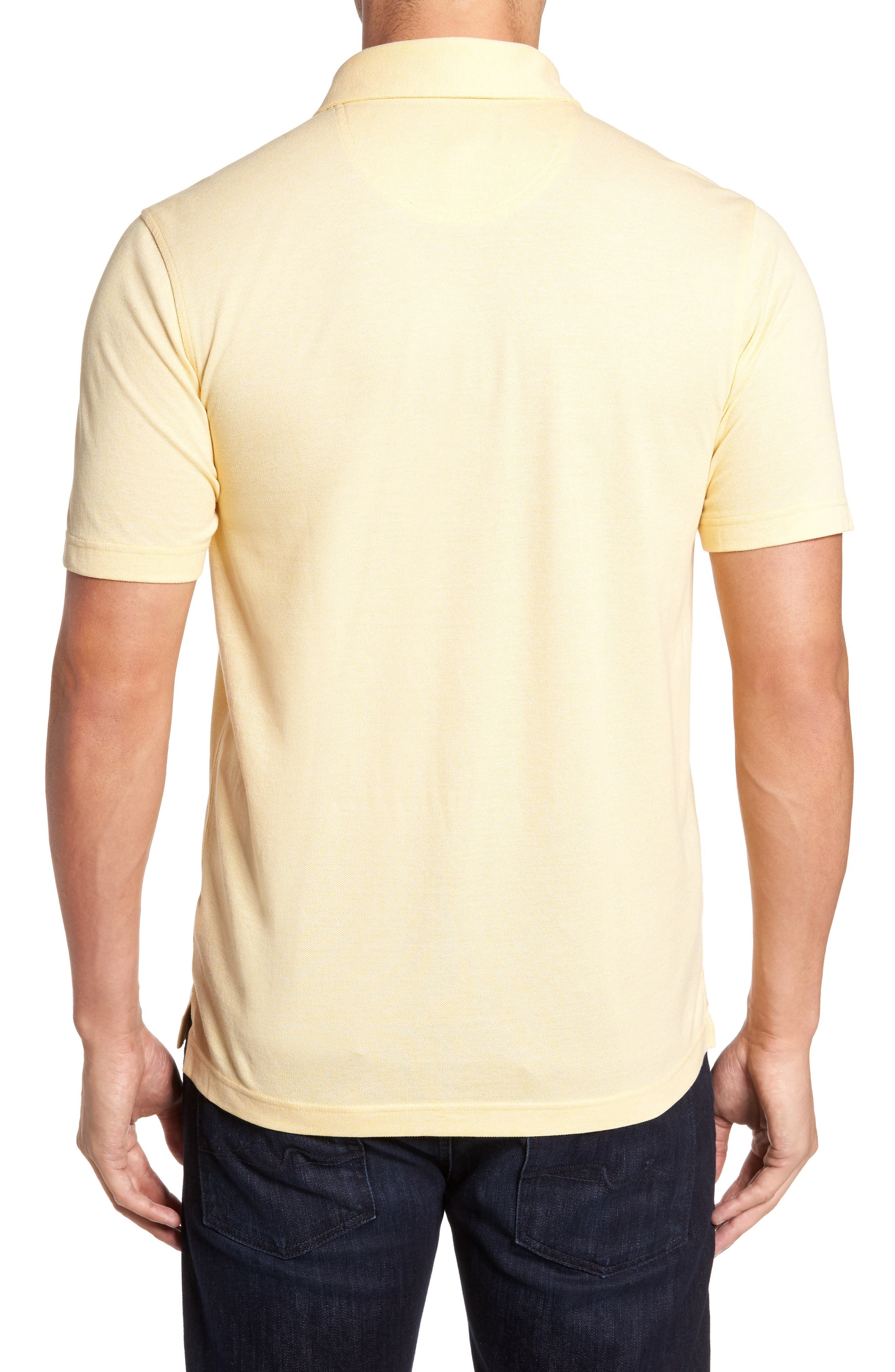 Regular Fit Polo,                             Alternate thumbnail 2, color,                             Yellow Silk