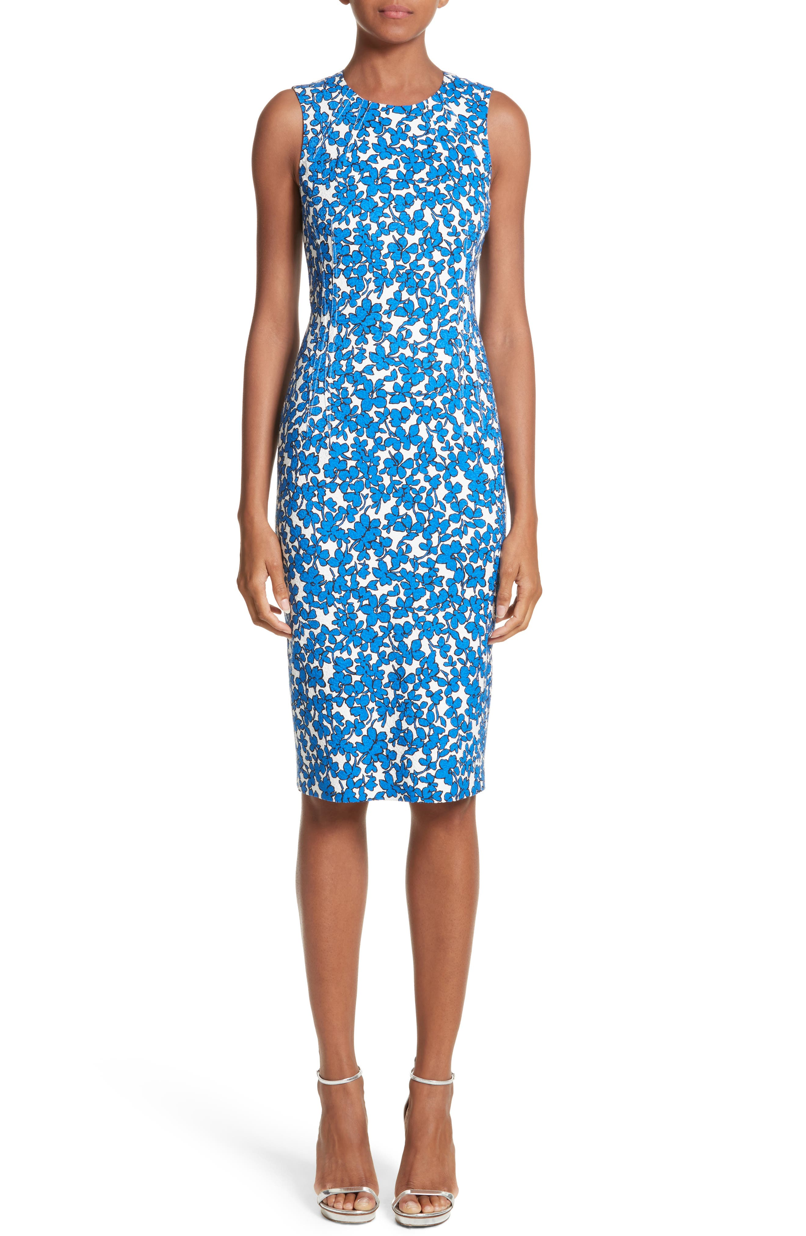 Michael Kors Floral Print Sheath Dress