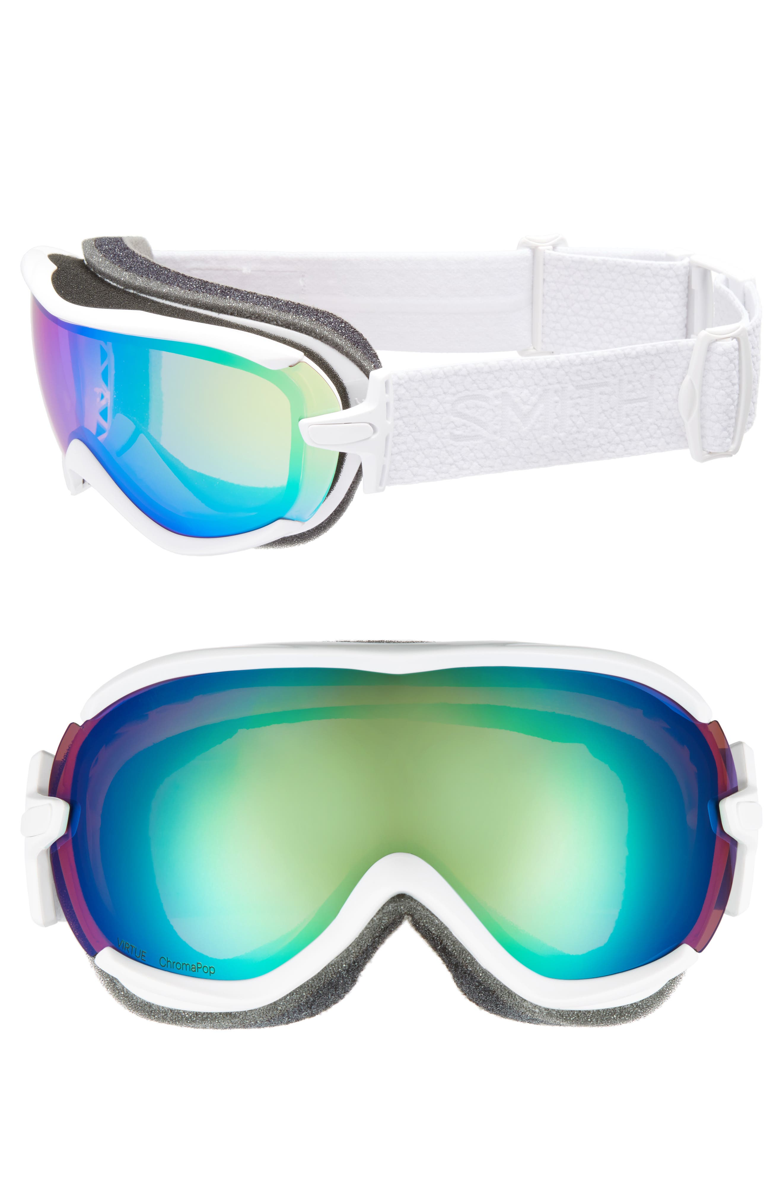 Virtue Ski/Snow Goggles,                         Main,                         color, White Mosaic/ Mirror
