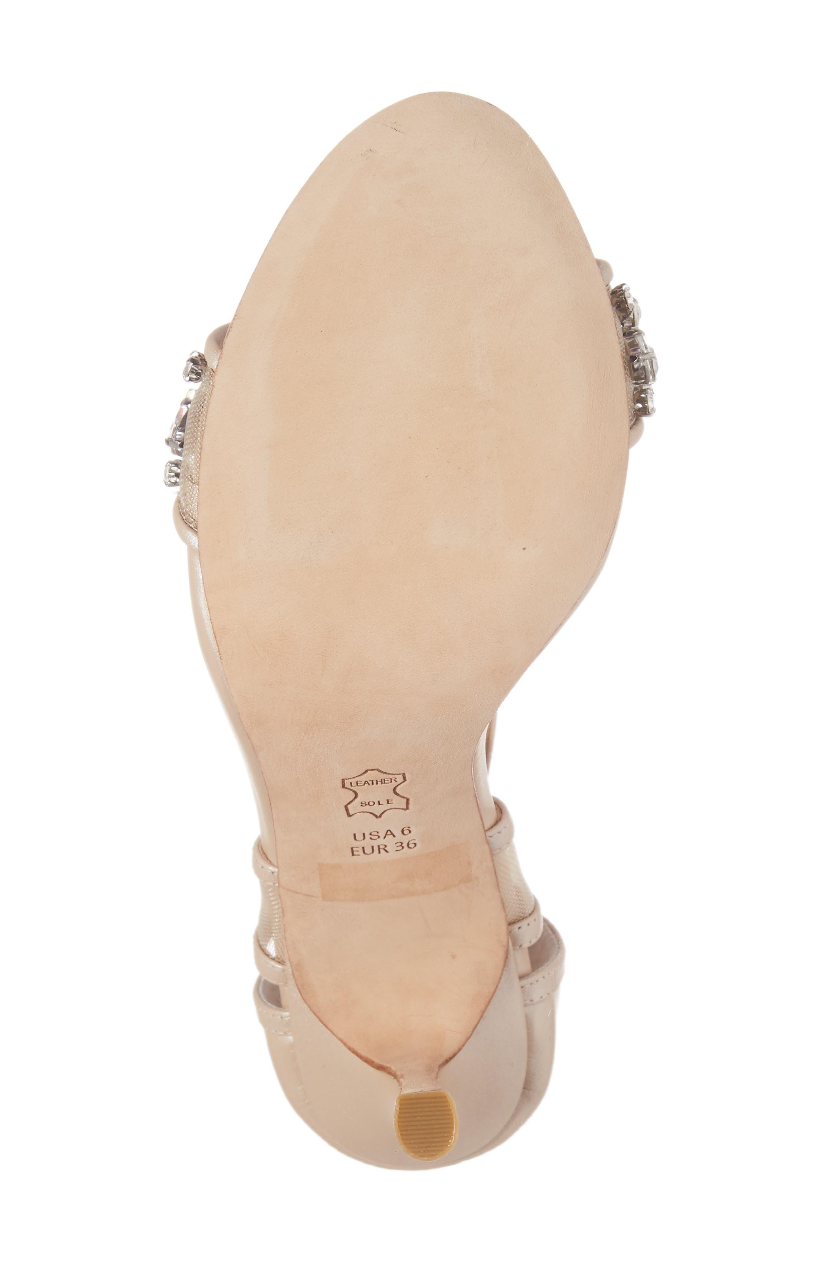 Filipa Embellished Ankle Strap Sandal,                             Alternate thumbnail 6, color,                             Nude Leather