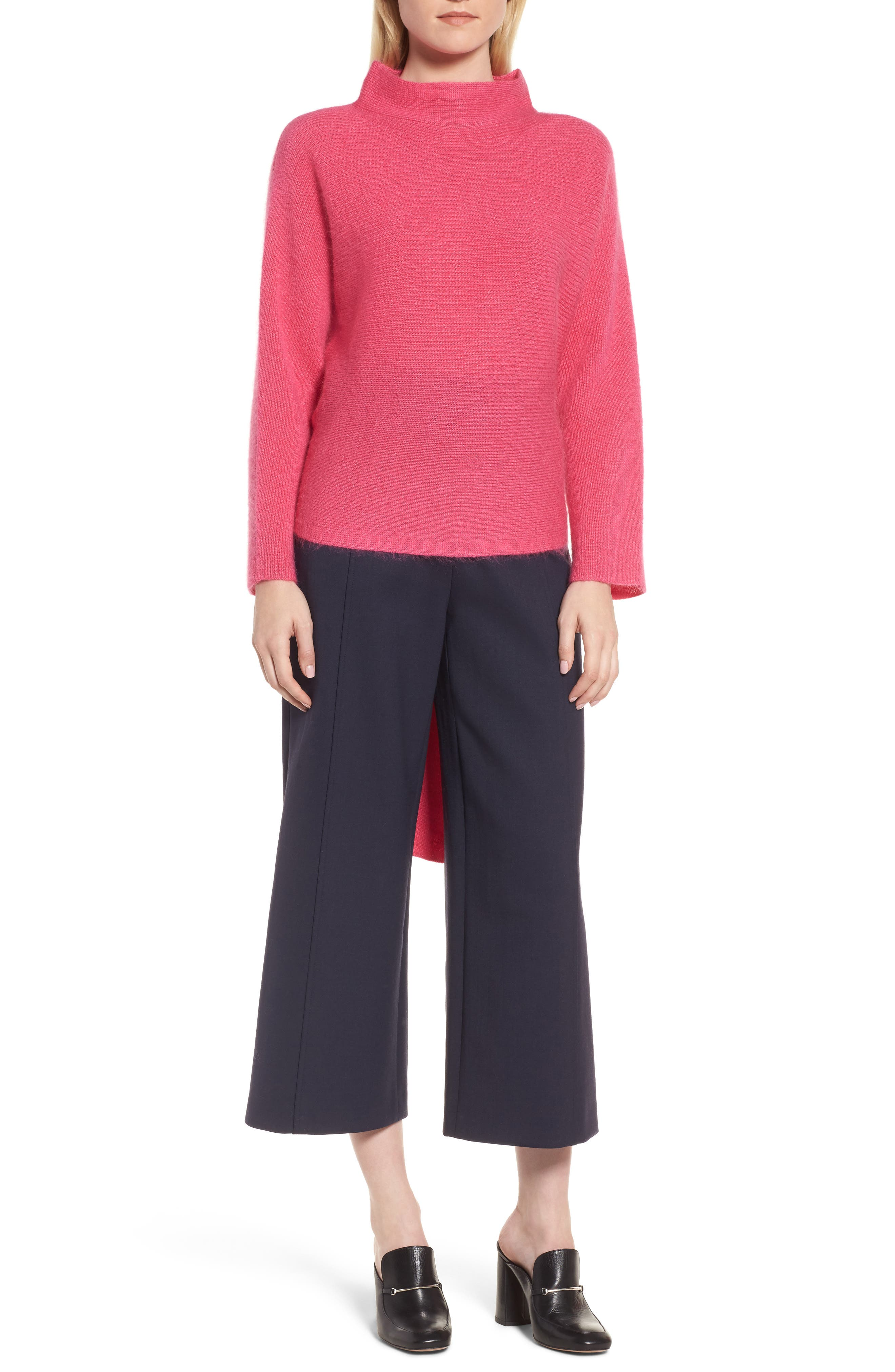 Tie Back Sweater,                             Main thumbnail 1, color,                             Pink Rouge
