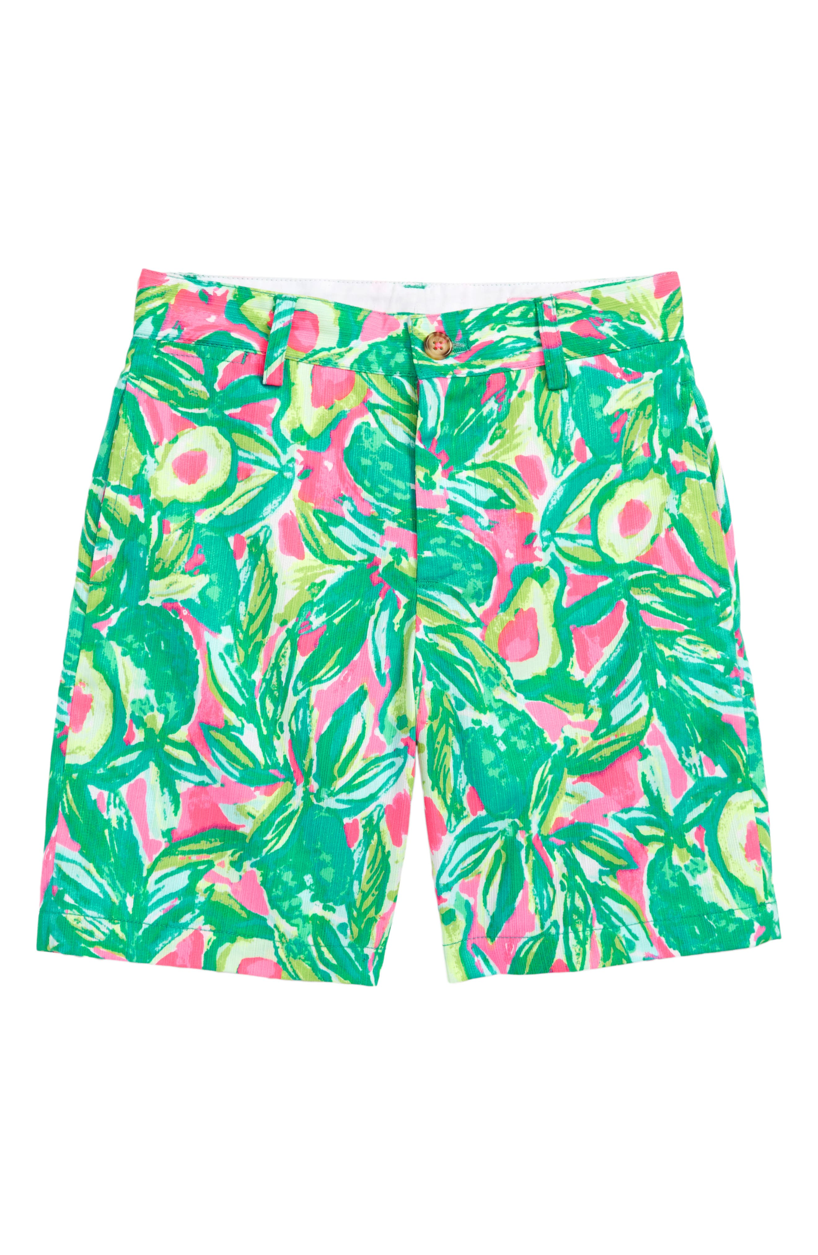 Lily Pulitzer Beaumont Print Shorts,                             Main thumbnail 1, color,                             Pink Sunset Guac And Roll