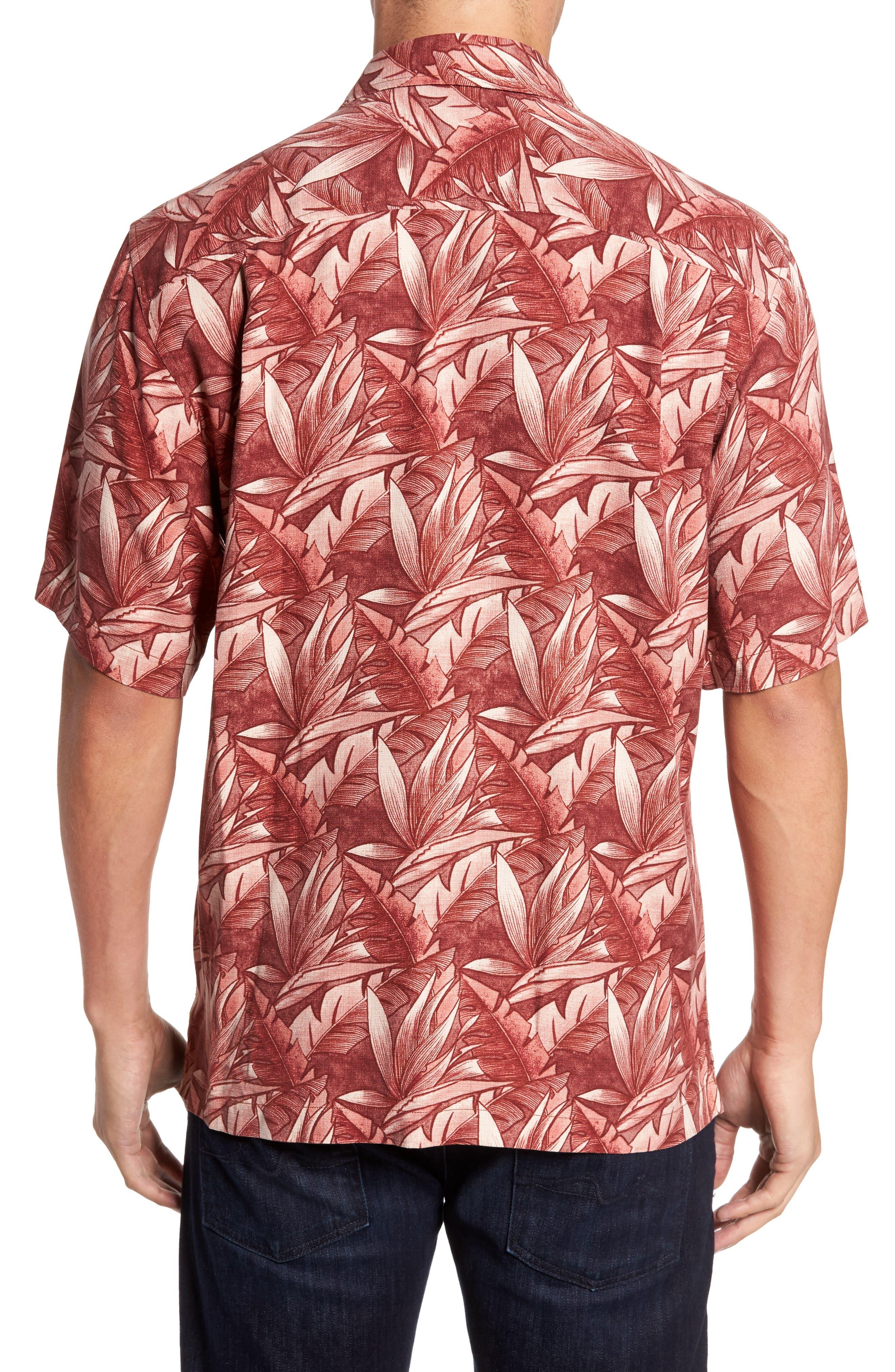 Alternate Image 2  - Tommy Bahama Jema Fronds Silk Camp Shirt