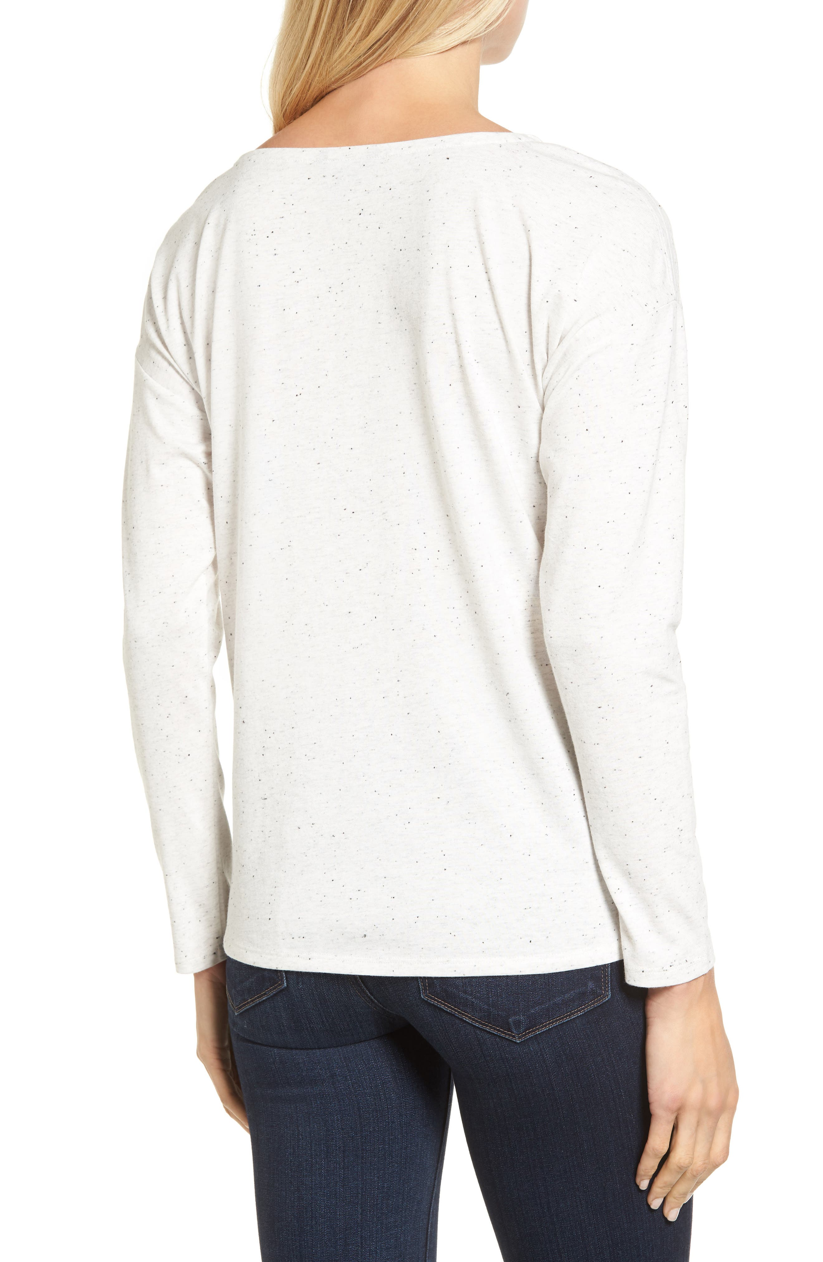 Alternate Image 2  - NIC+ZOE Salt & Pepper Long Sleeve Top