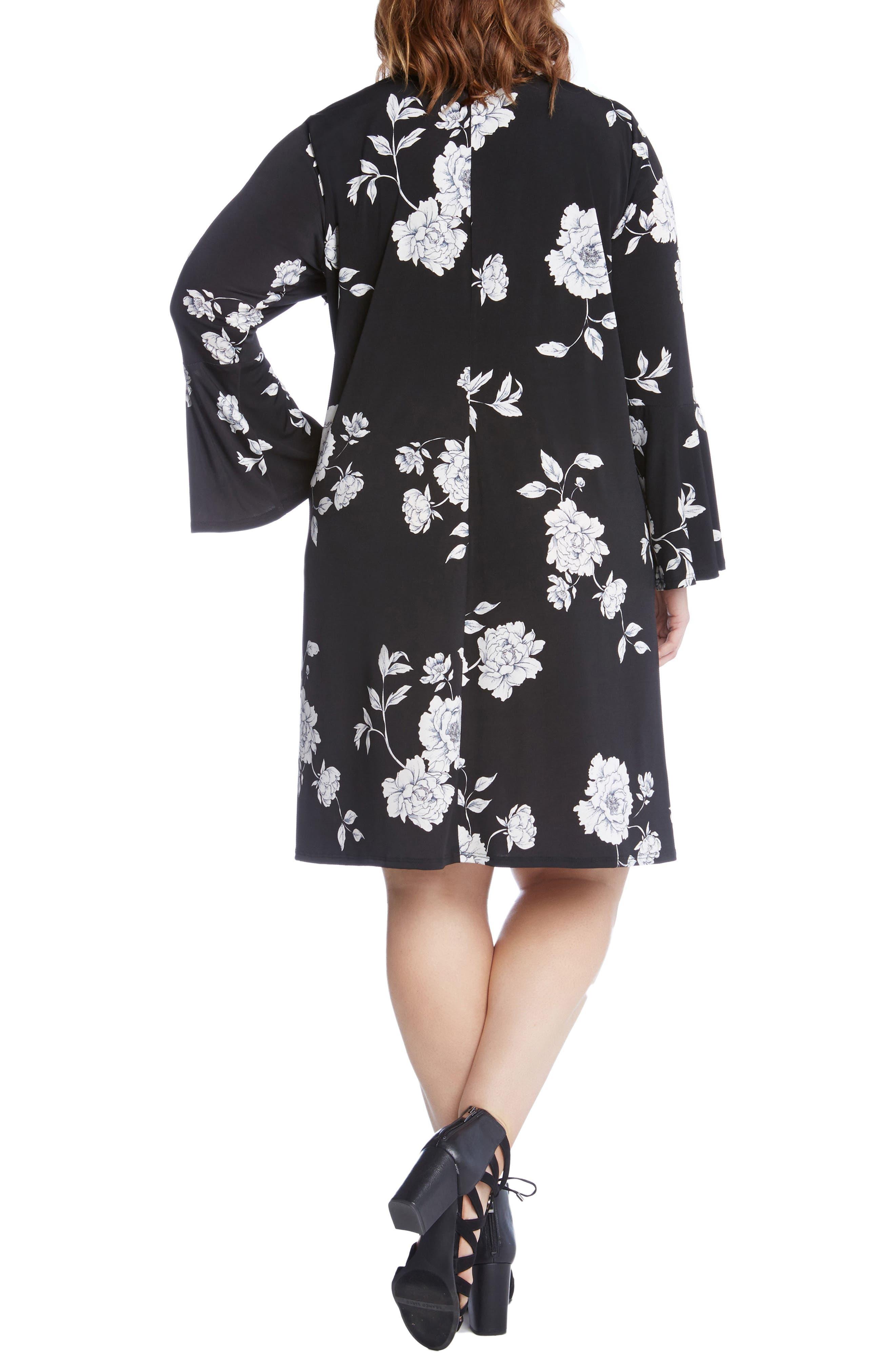 Alternate Image 3  - Karen Kane Taylor Flare Sleeve Swing Dress (Plus Size)