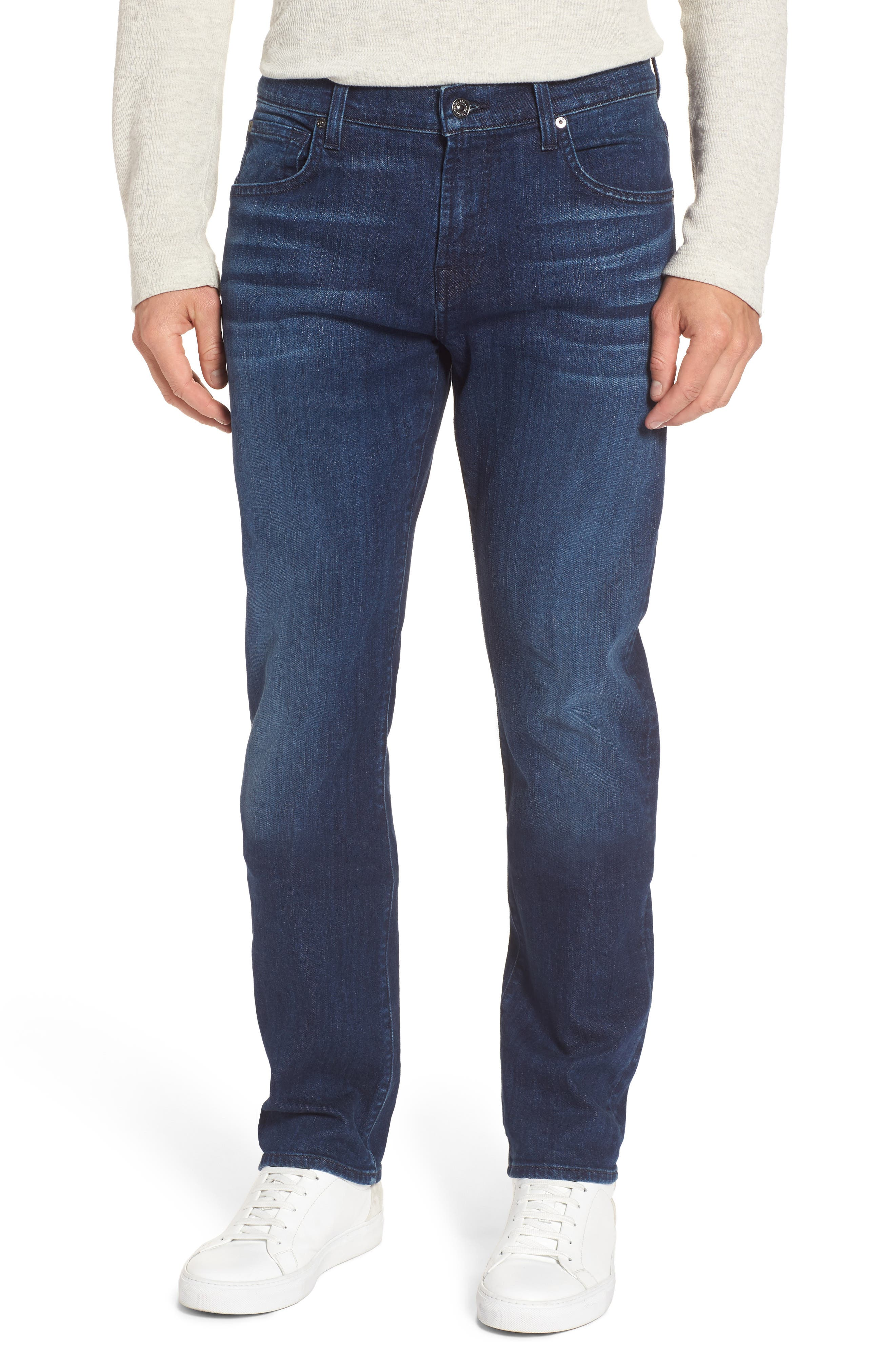 Main Image - 7 For All Mankind® The Straight Slim Straight Fit Jeans (Montauk)