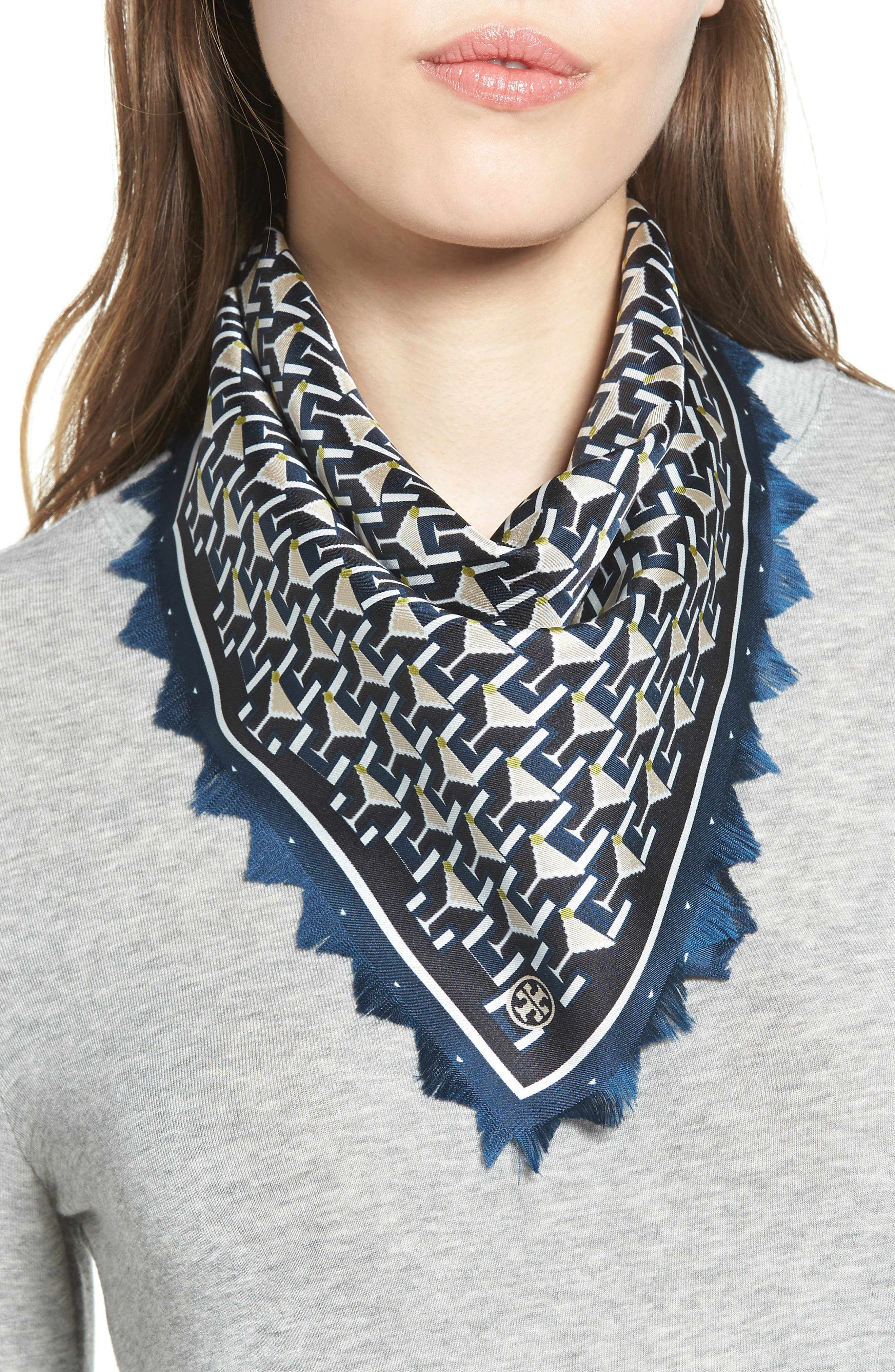 Tory Burch Martini Silk Neckerchief