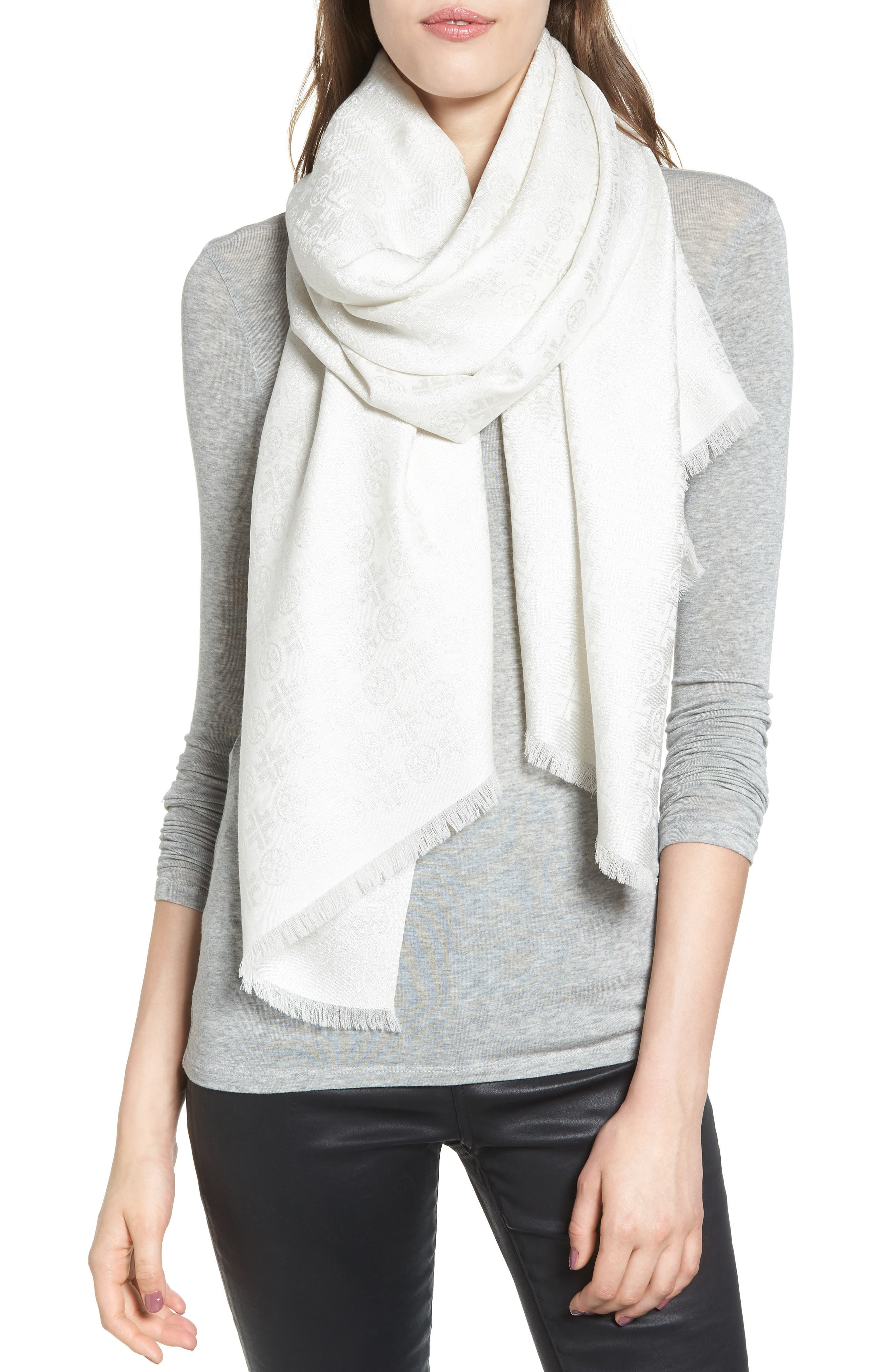 Tory Burch Traveler Jacquard Oblong Scarf
