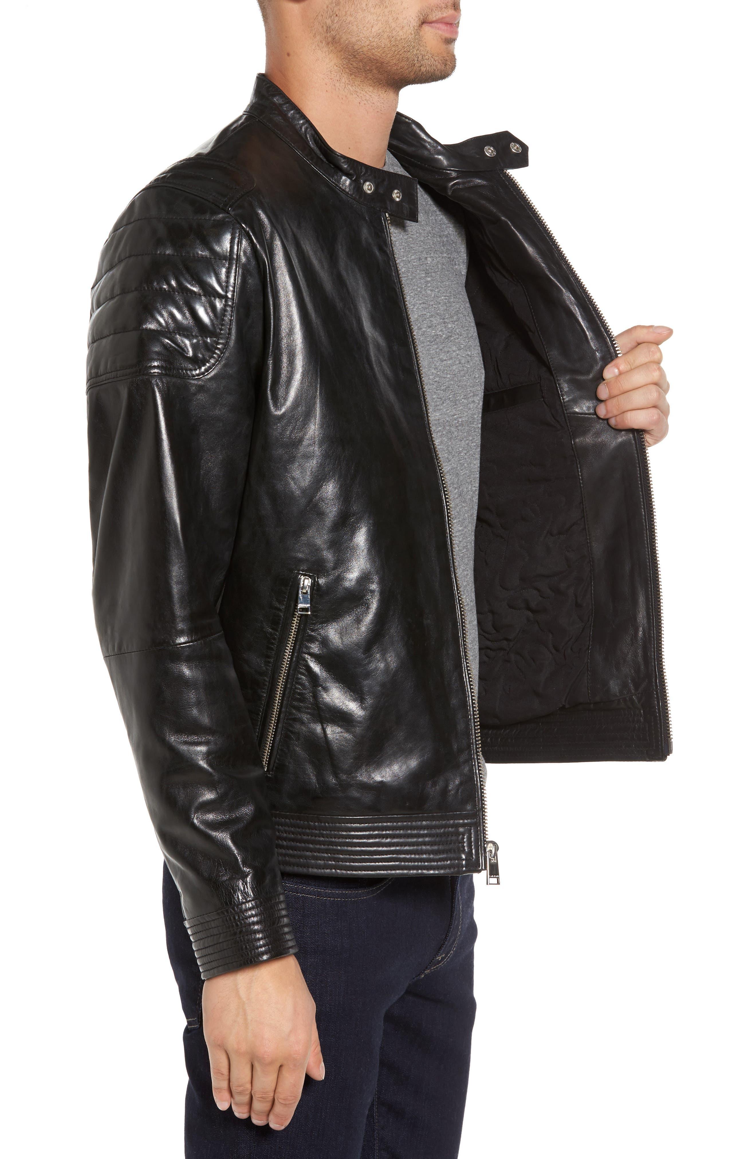 Alternate Image 3  - LAMARQUE Leather Moto Jacket