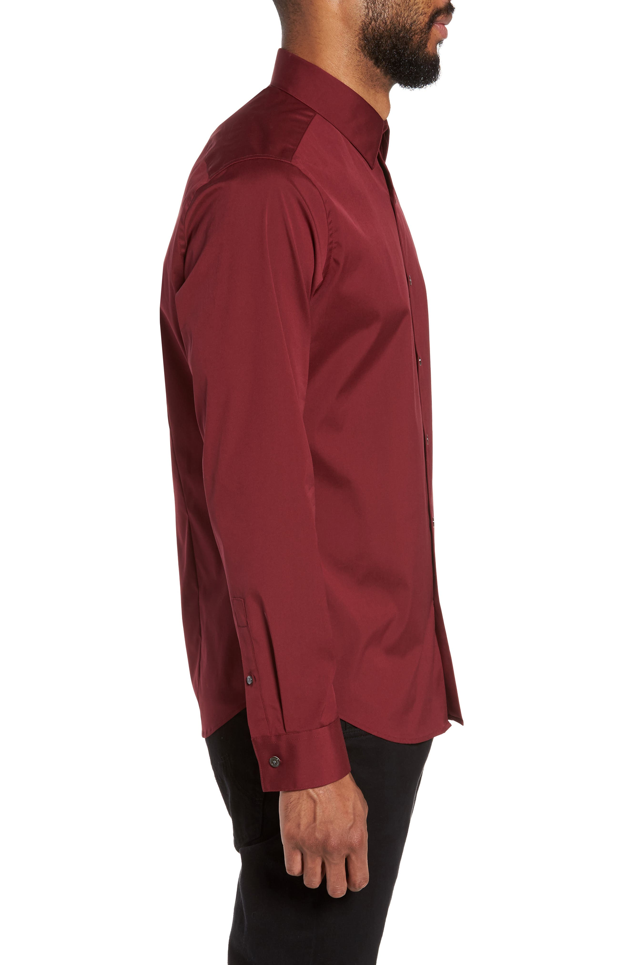 Alternate Image 3  - Theory 'Sylvain' Trim Fit Long Sleeve Sport Shirt